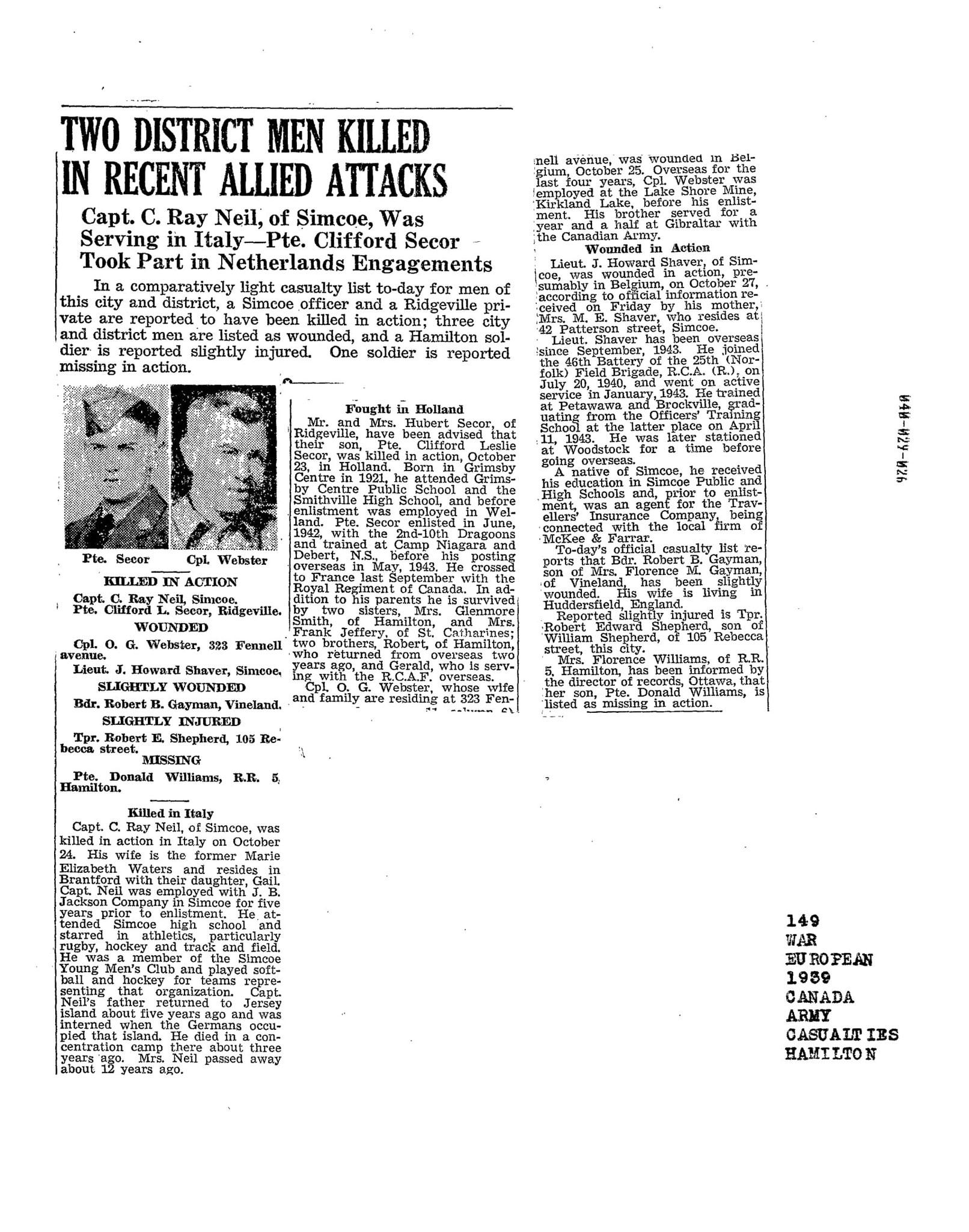 Hamilton Spectator 6-11-1944