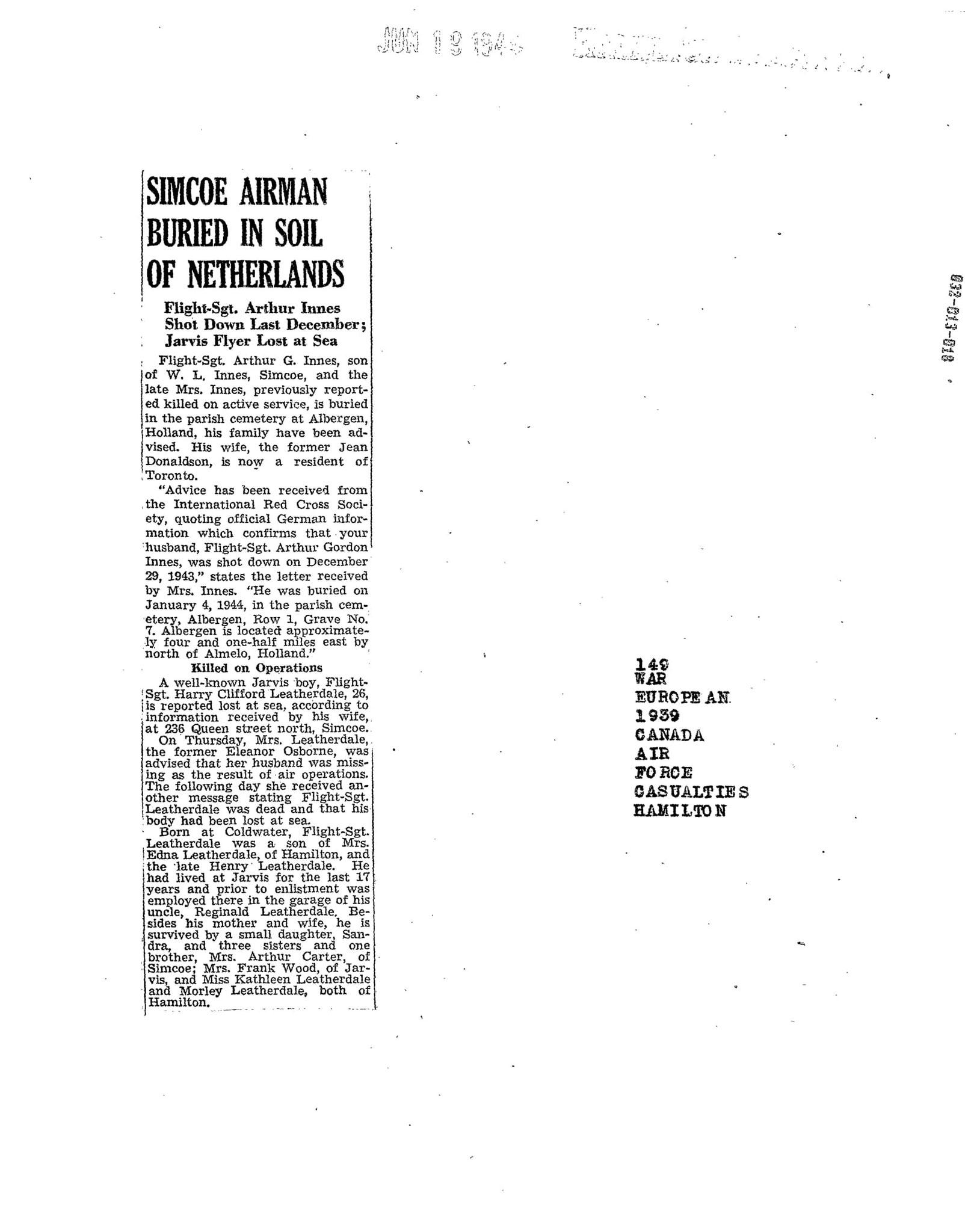Hamilton Spectator 19-6-1944