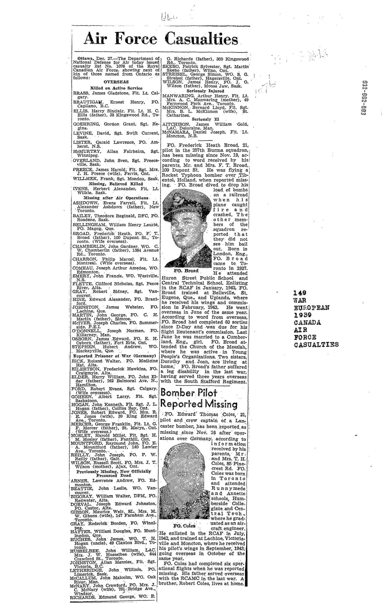 G;lobe and Mail 28-12-1944