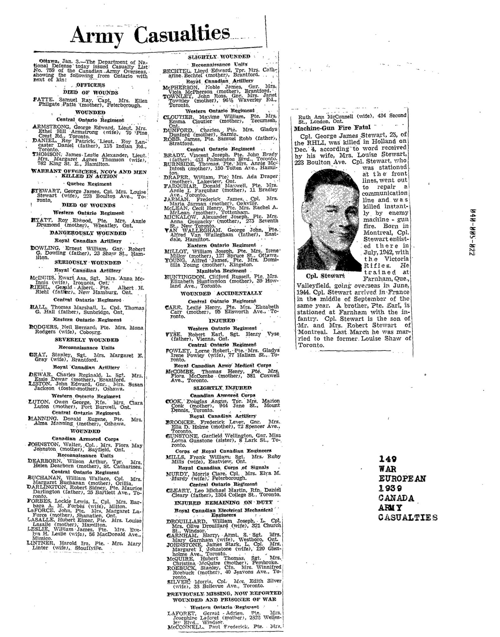 Globe and Mail 4-1-1945