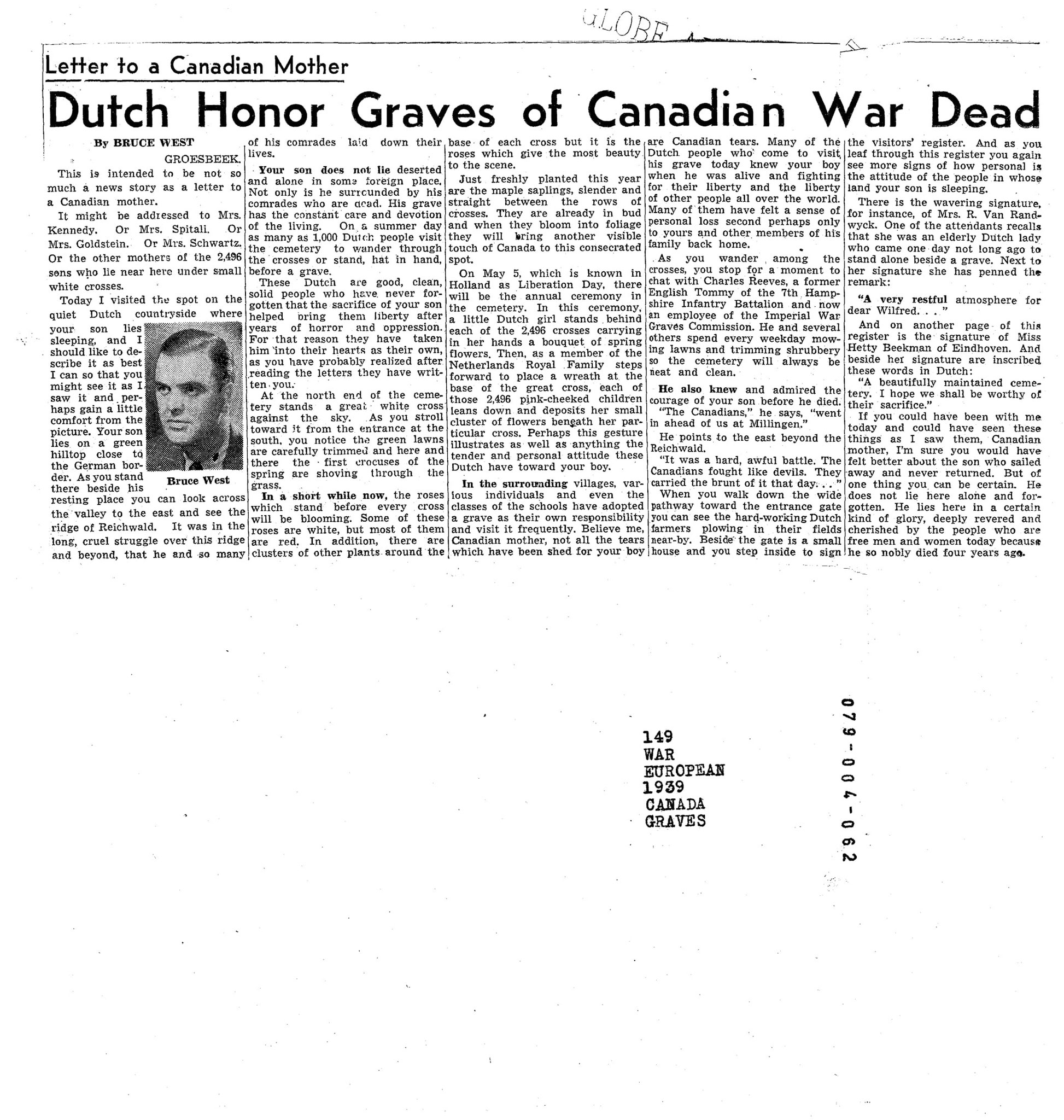 Globe and Mail 14-4-1949