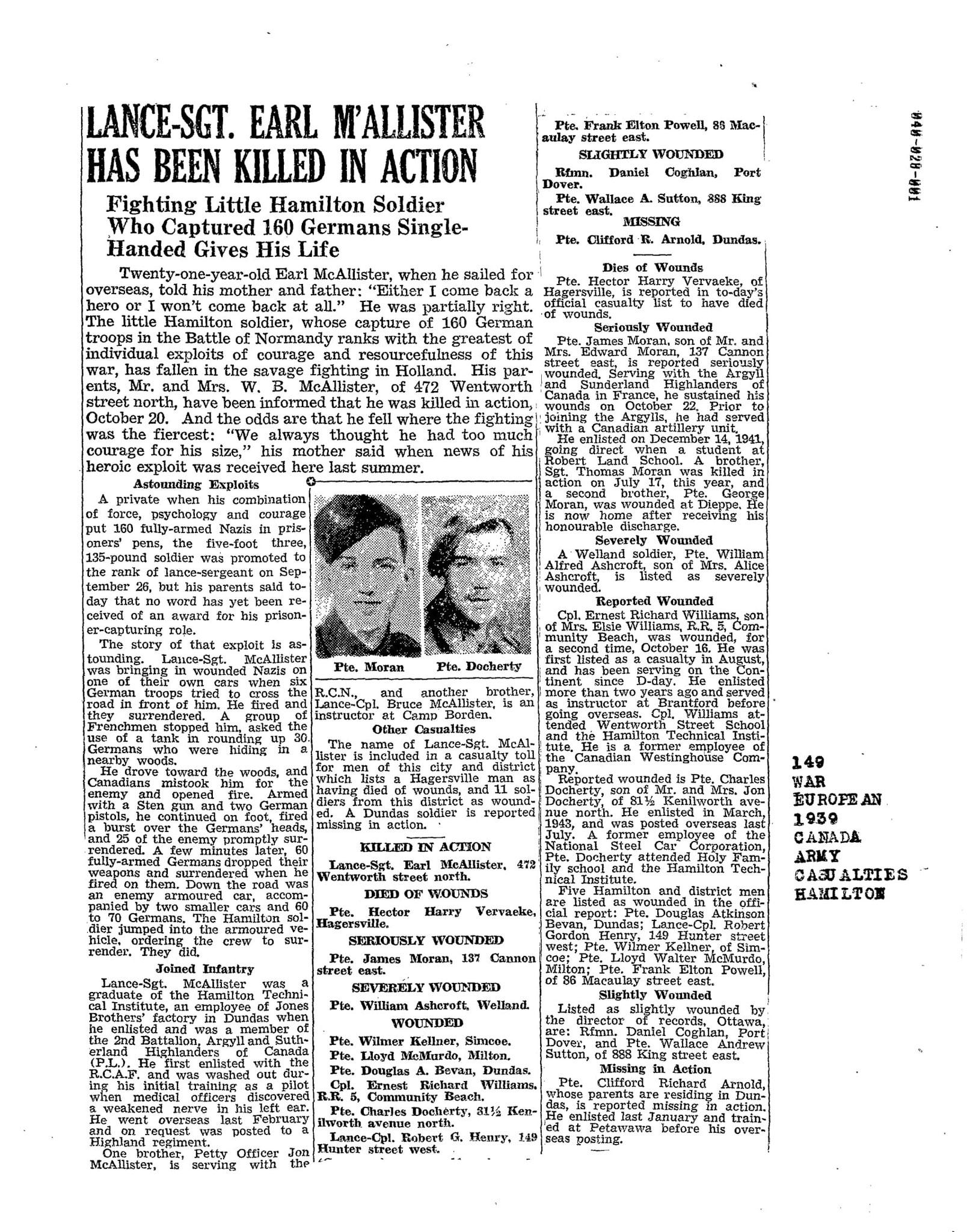 Hamilton Spectator 28-10-1944