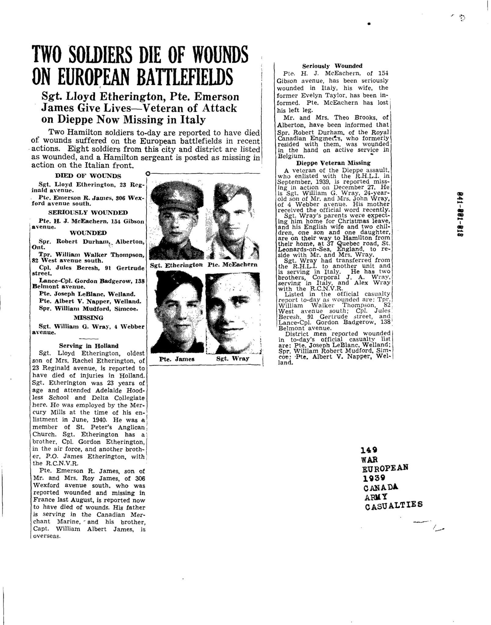 Hamilton Spectator 1-12-1945