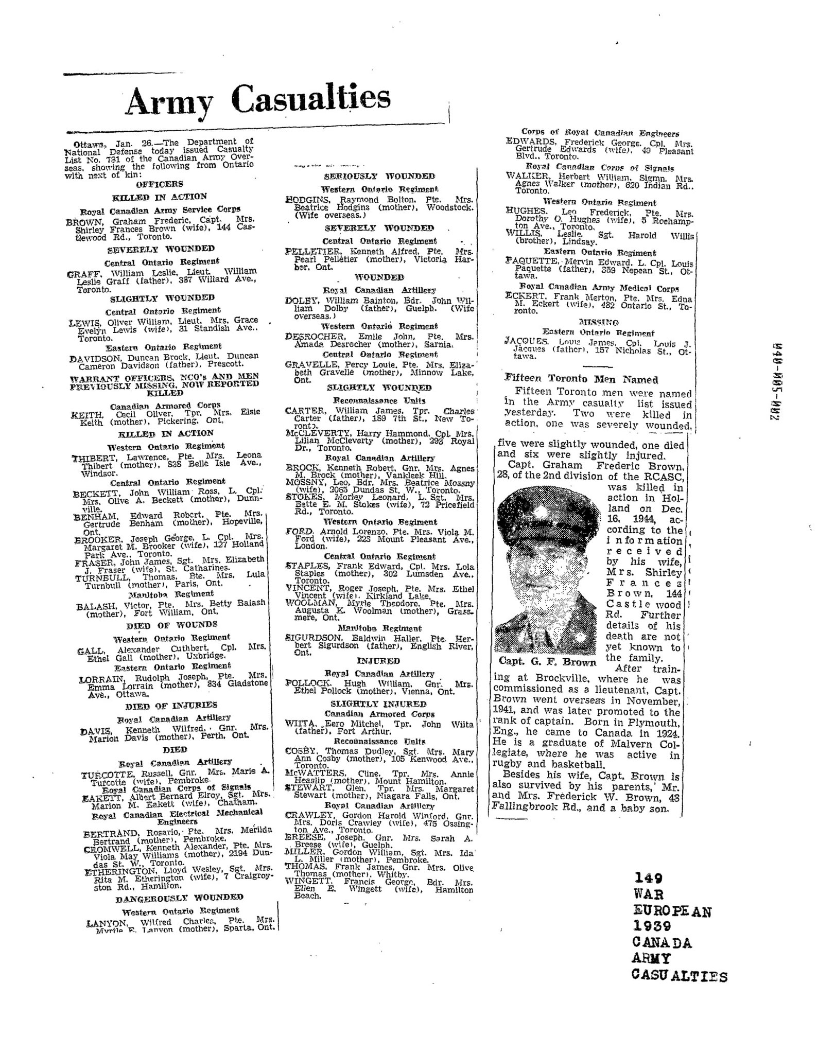 Globe and Mail 27-1-1945