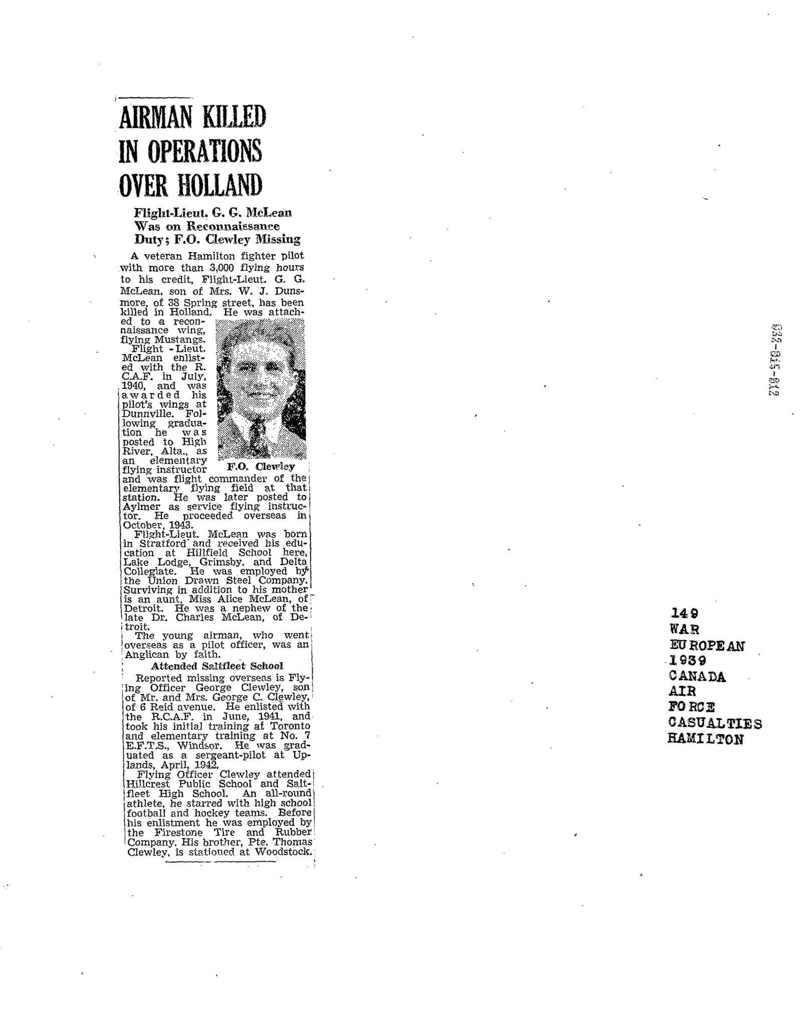 Hamilton Spectator 11-12-1944