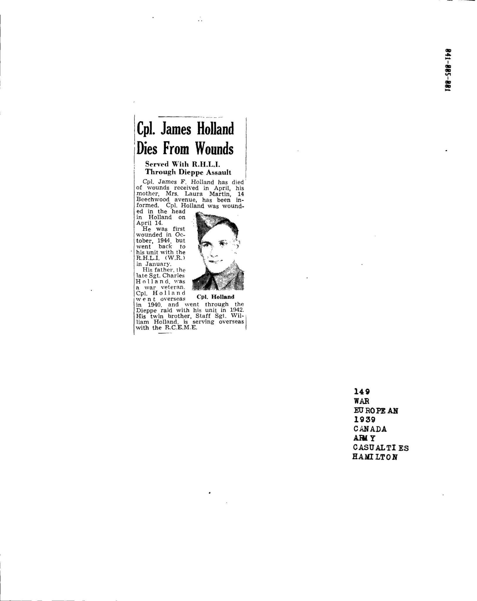 Hamilton Spectator 28-5-1945
