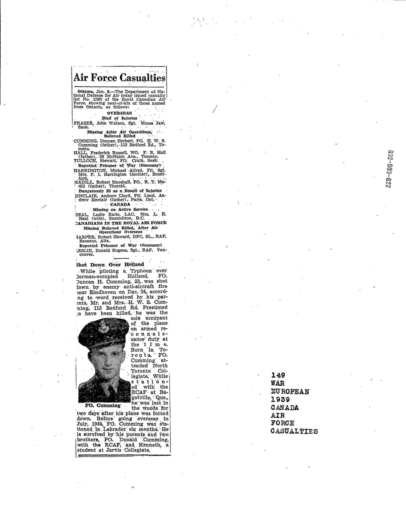 Globe and Mail 9-1-1945