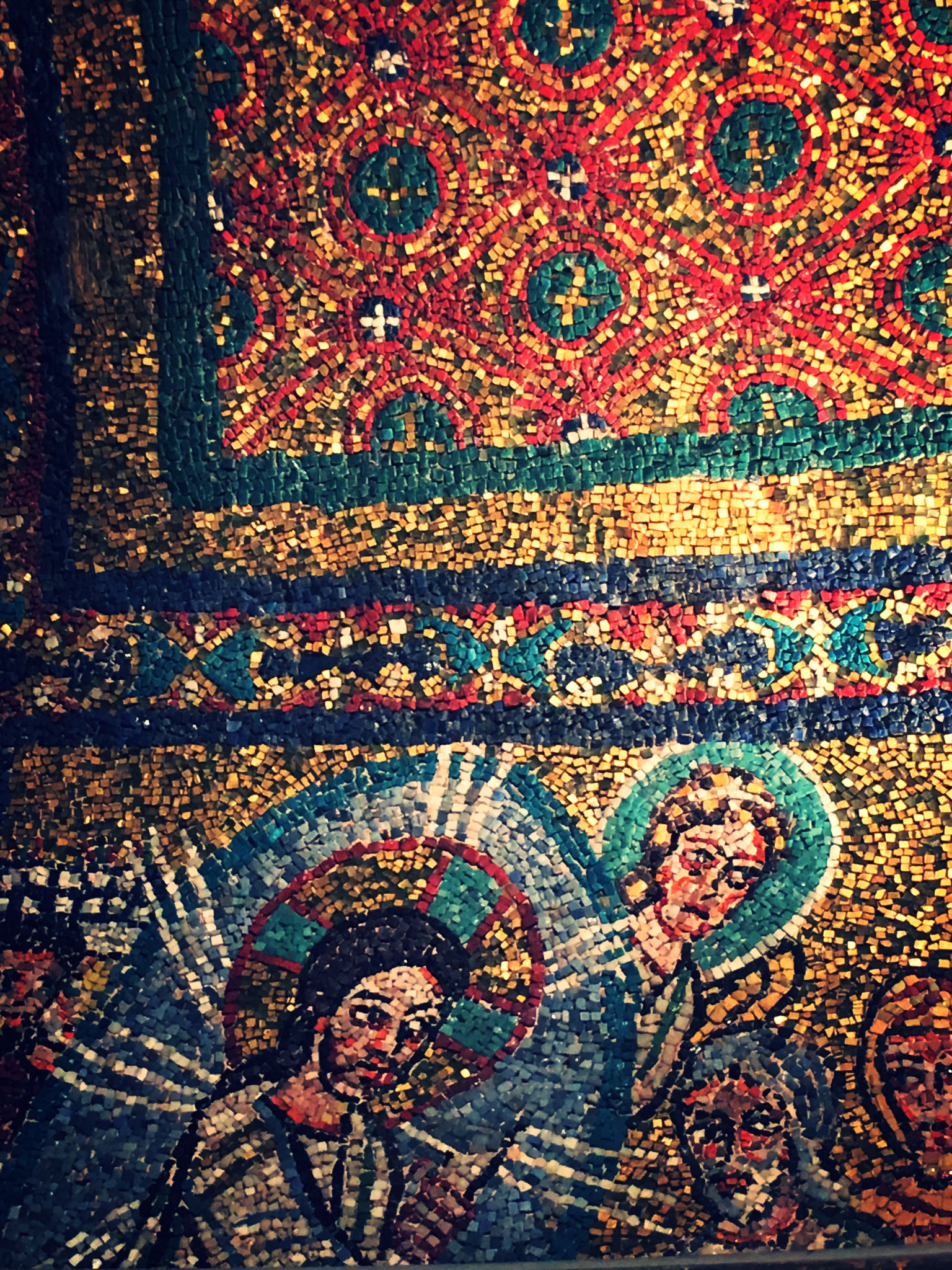 In der Kirche Santa Prassede sind wundervolle Mosaike zu sehen.