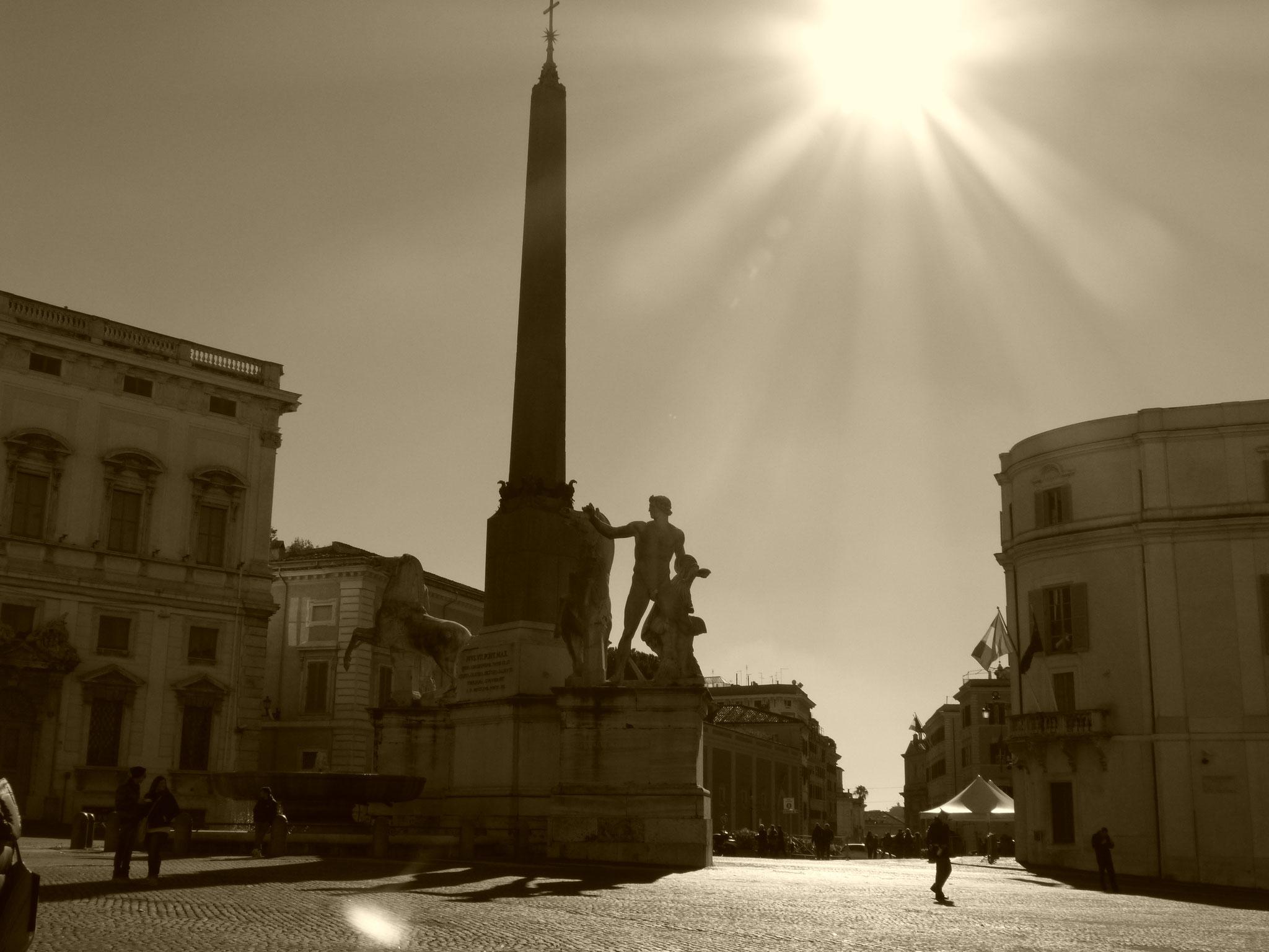 Dioskurenbrunnen vor dem dem Palazzo del Quirinale