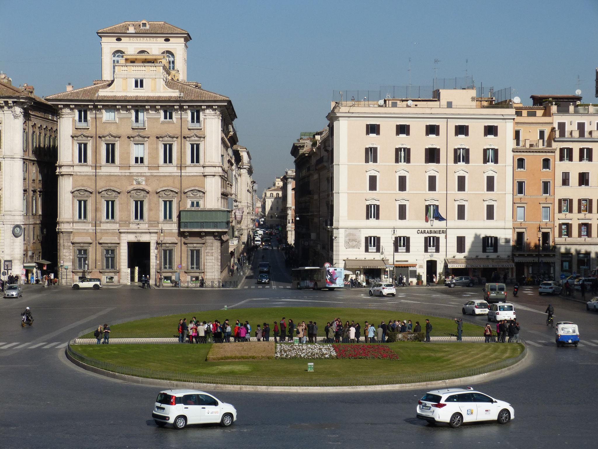 Piazza Venezia und Via del Corso