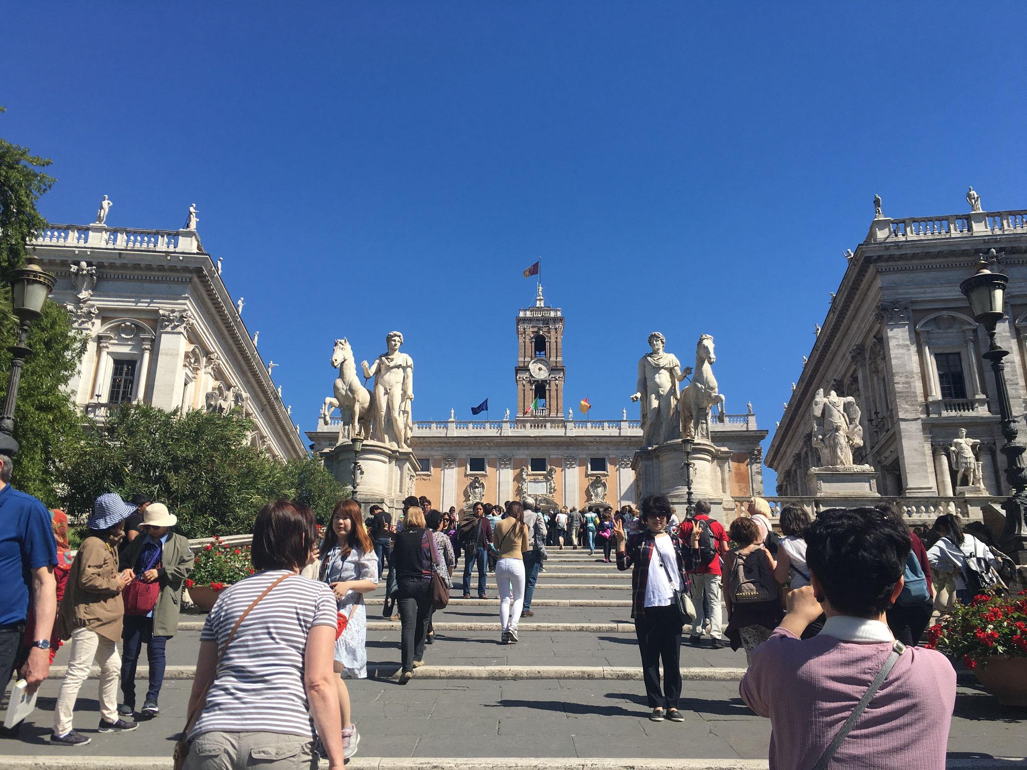 Treppenaufgang zum Piazza del Campidoglio
