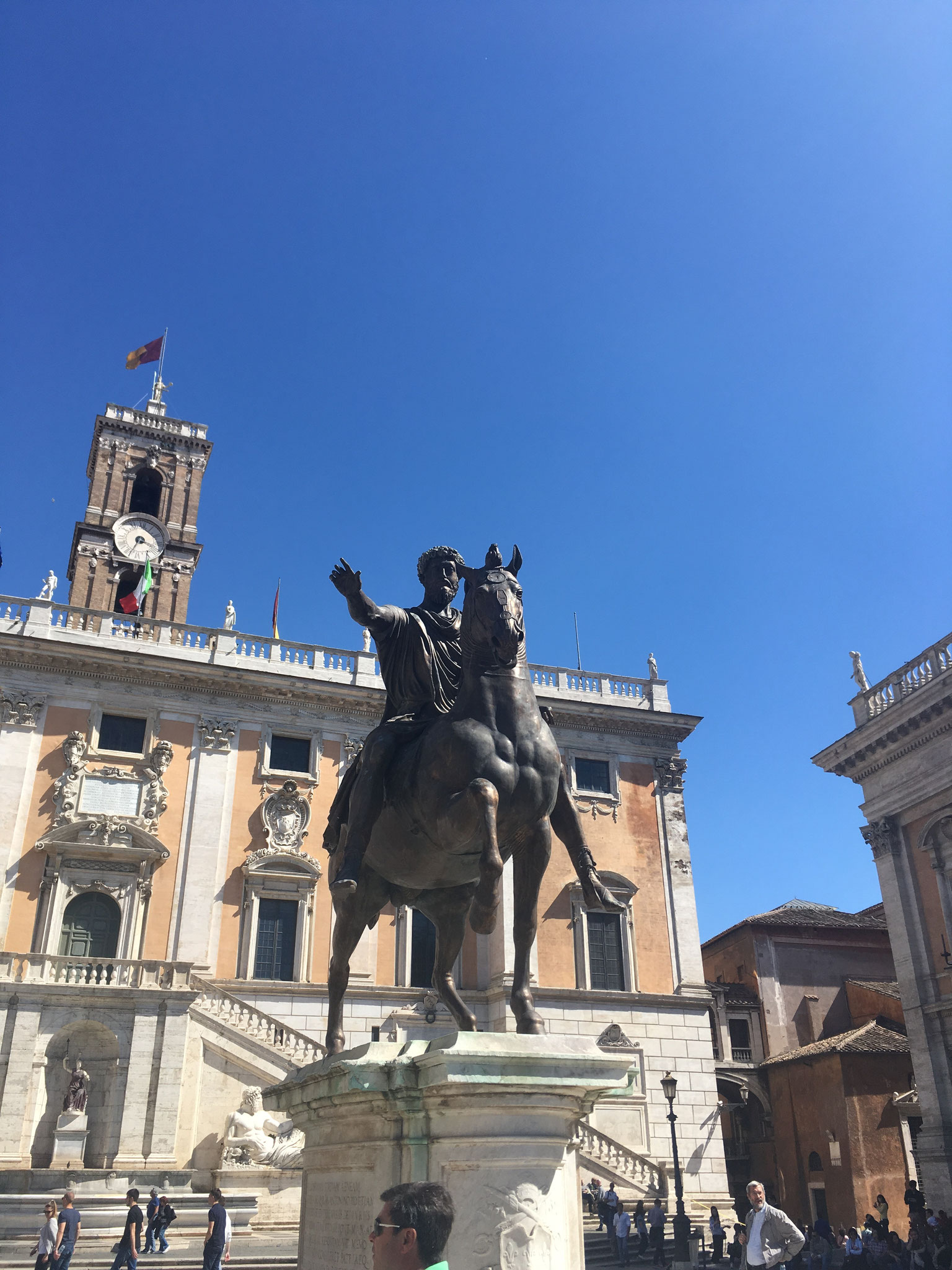 Römisches Rathaus und Marc Aurel