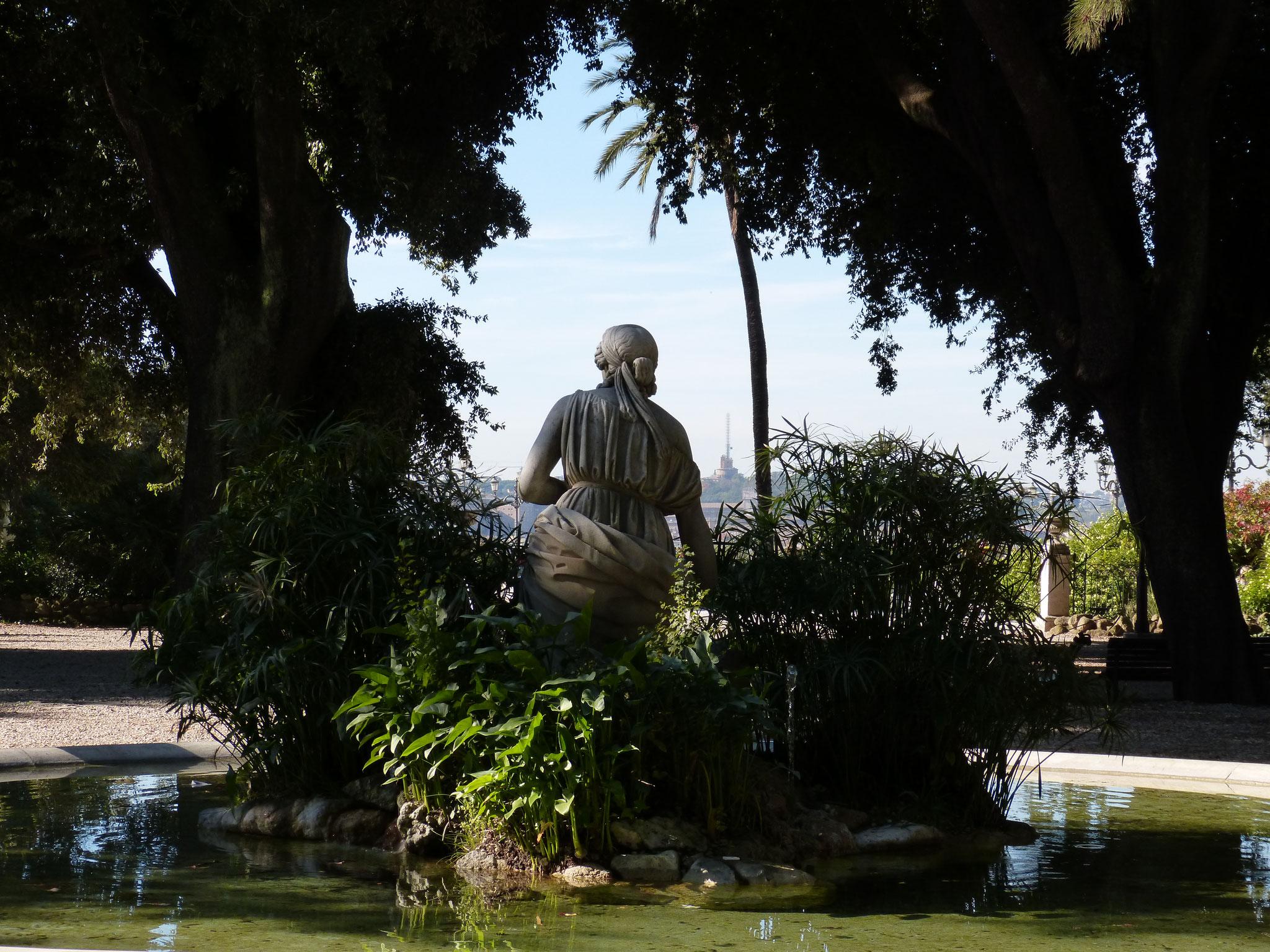 Ein Brunnen mit tollen Ausblick auf dem Pincio über der Piazza del Popolo