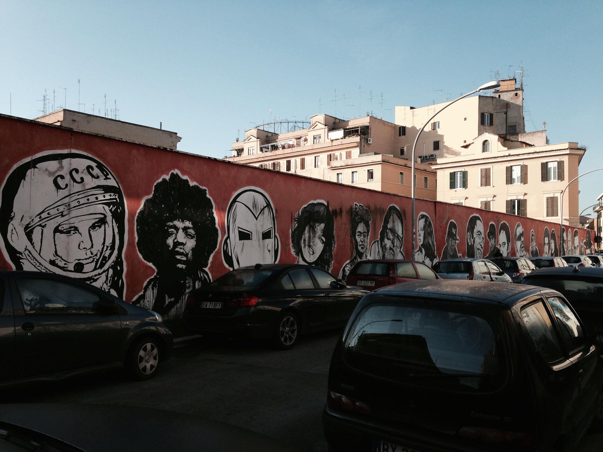 Wall of Fame in der Via dei Maggazzini Generali