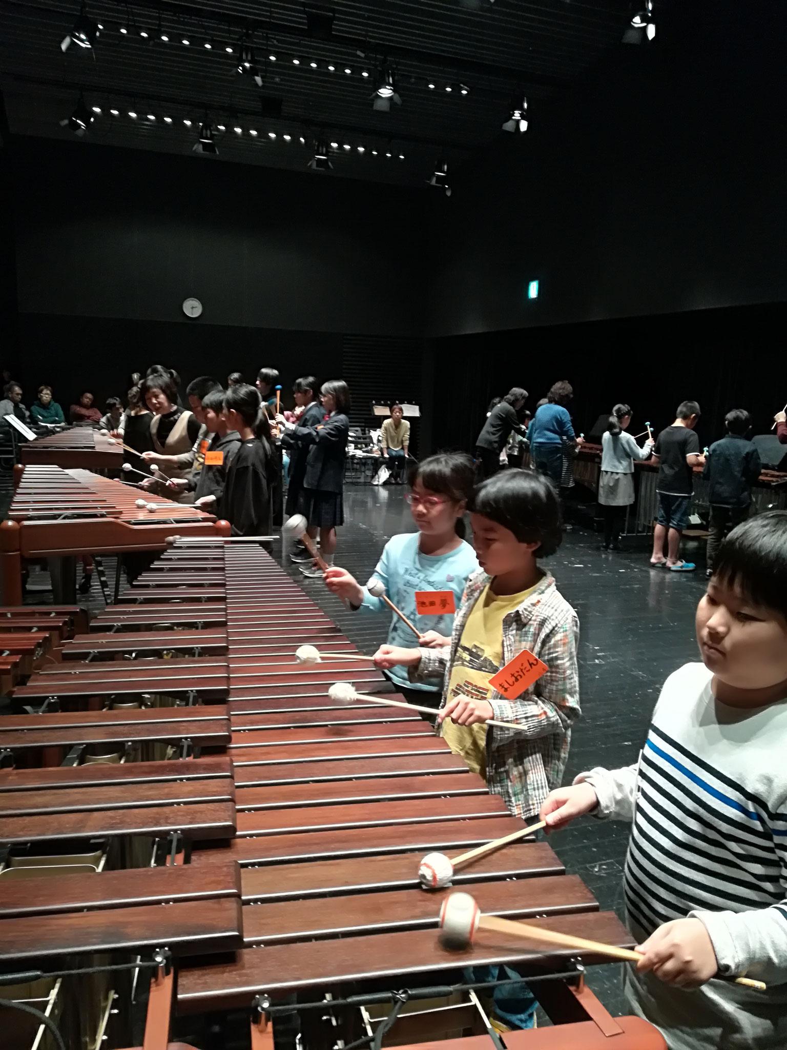 「マリンバを弾いてみよう」