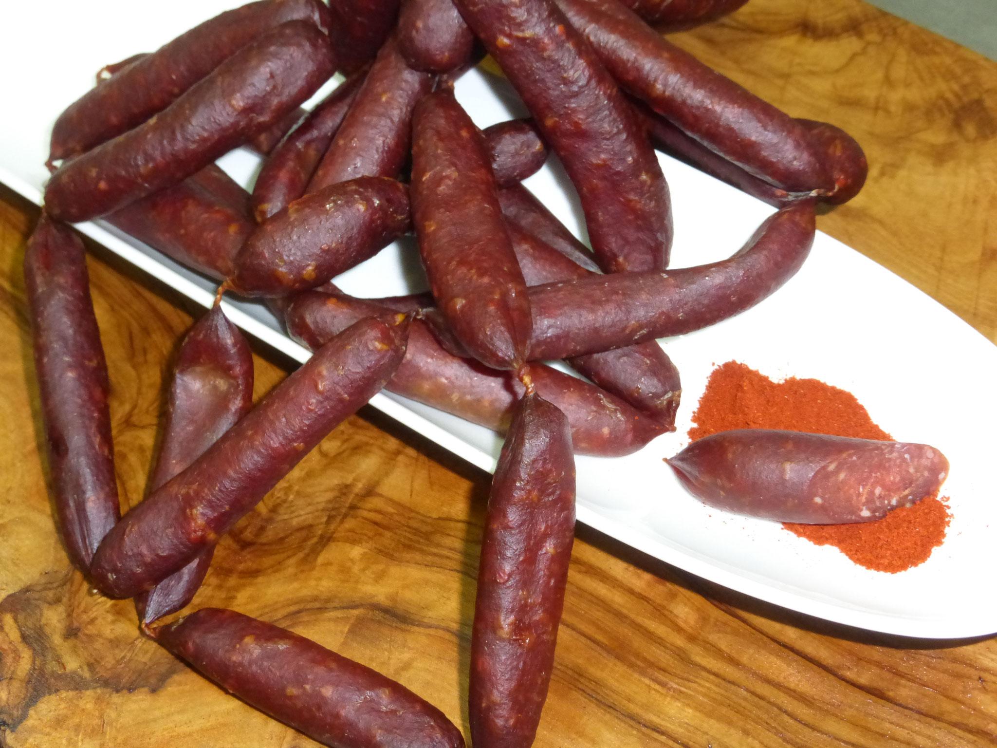 Wildschweinteufel, pikant gewürzt mit Cayenne Pfeffer und Paprika