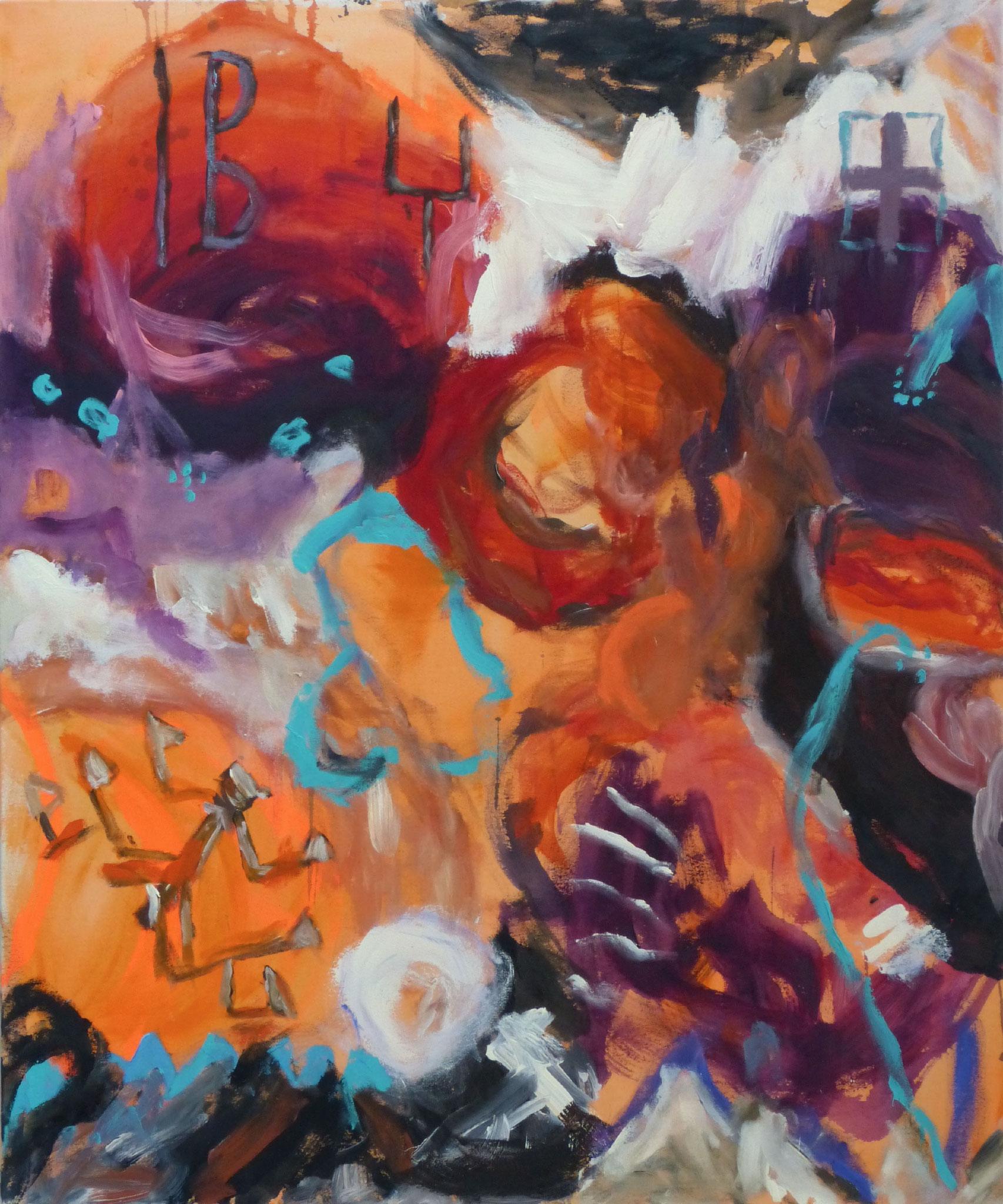 Marrakesch 2,  Acryl/Leinwand, 120x100 cm, 2018