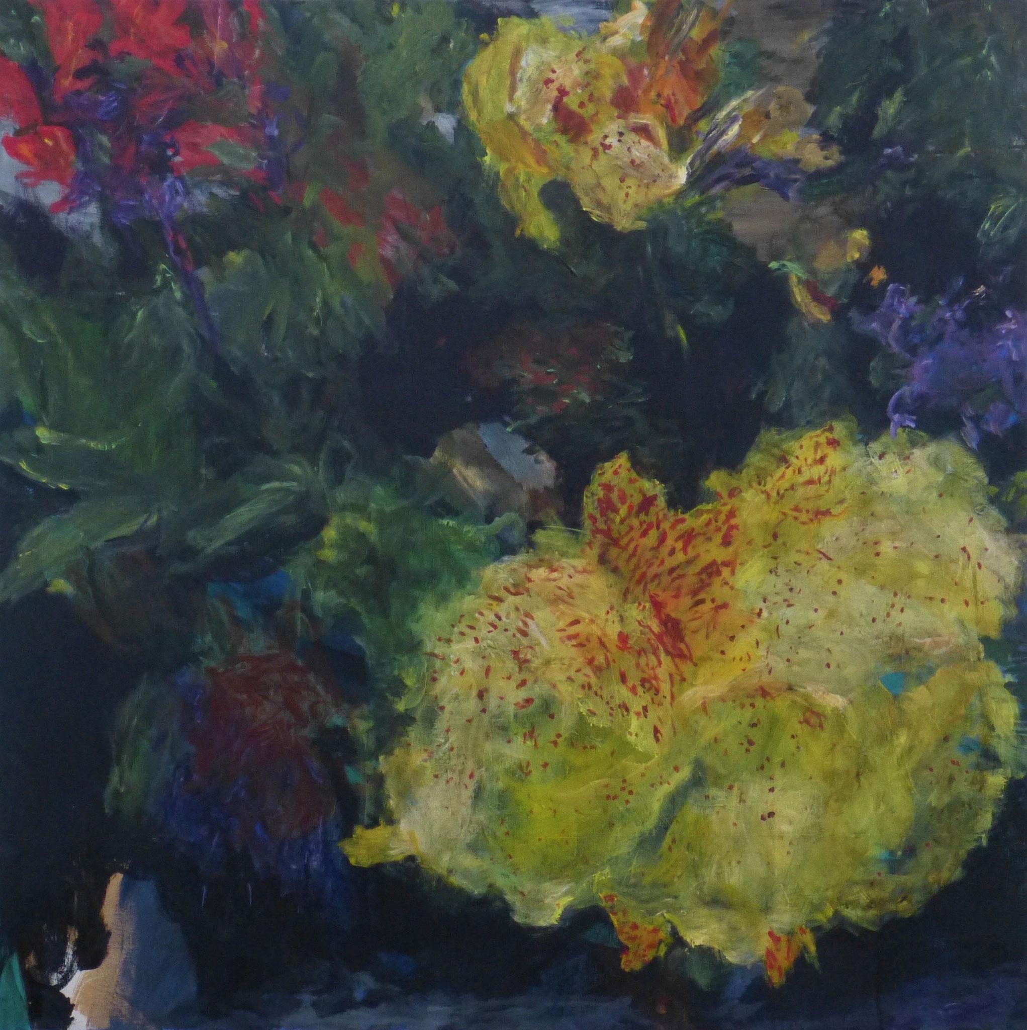 flower poem 5, Acryl/Leinwand, 100x100cm, 2017