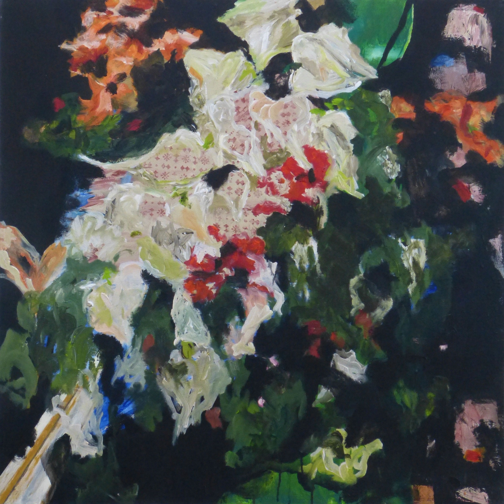 flower poem 7, Acryl/Leinwand, 100x100cm, 2017