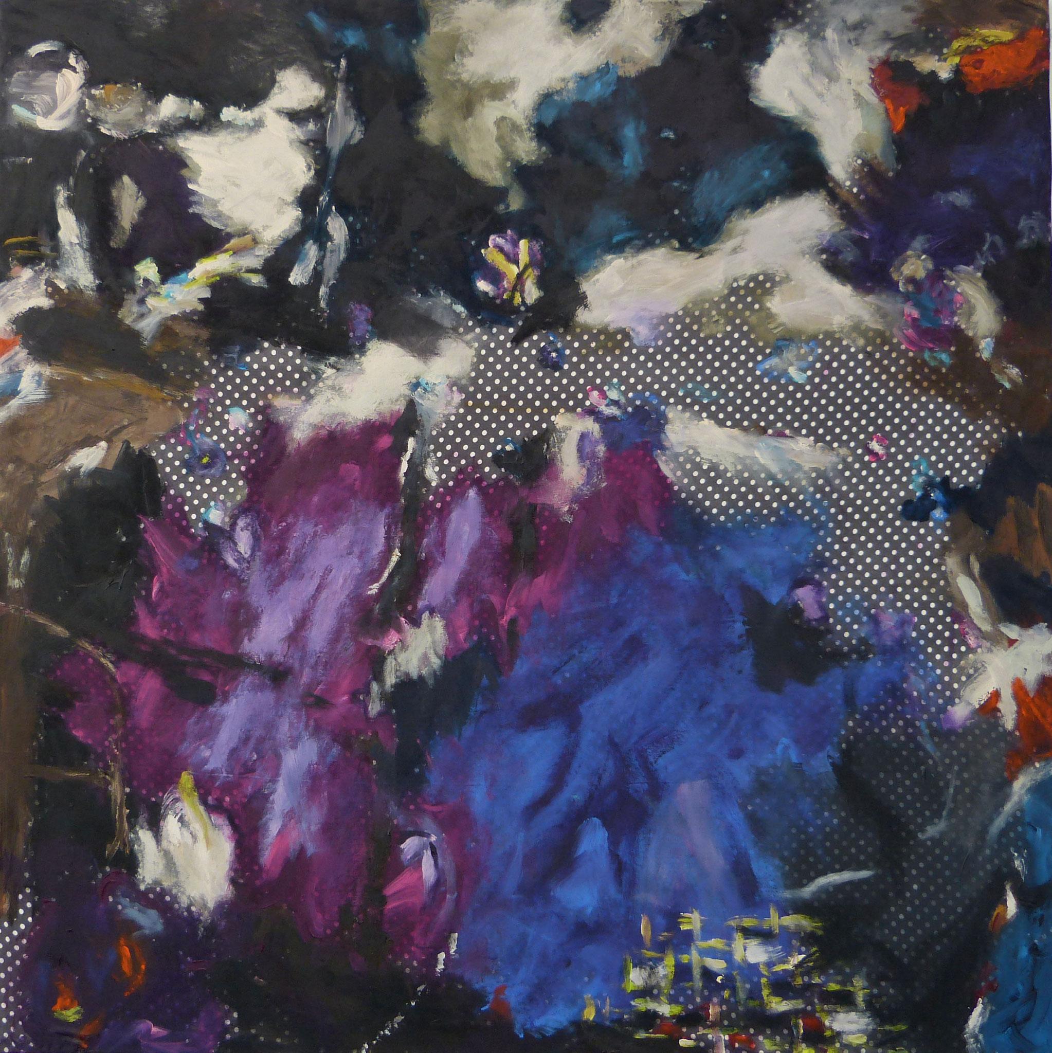 Masala 3, Acryl /Leinwand, 100 x 100 cm, 2016