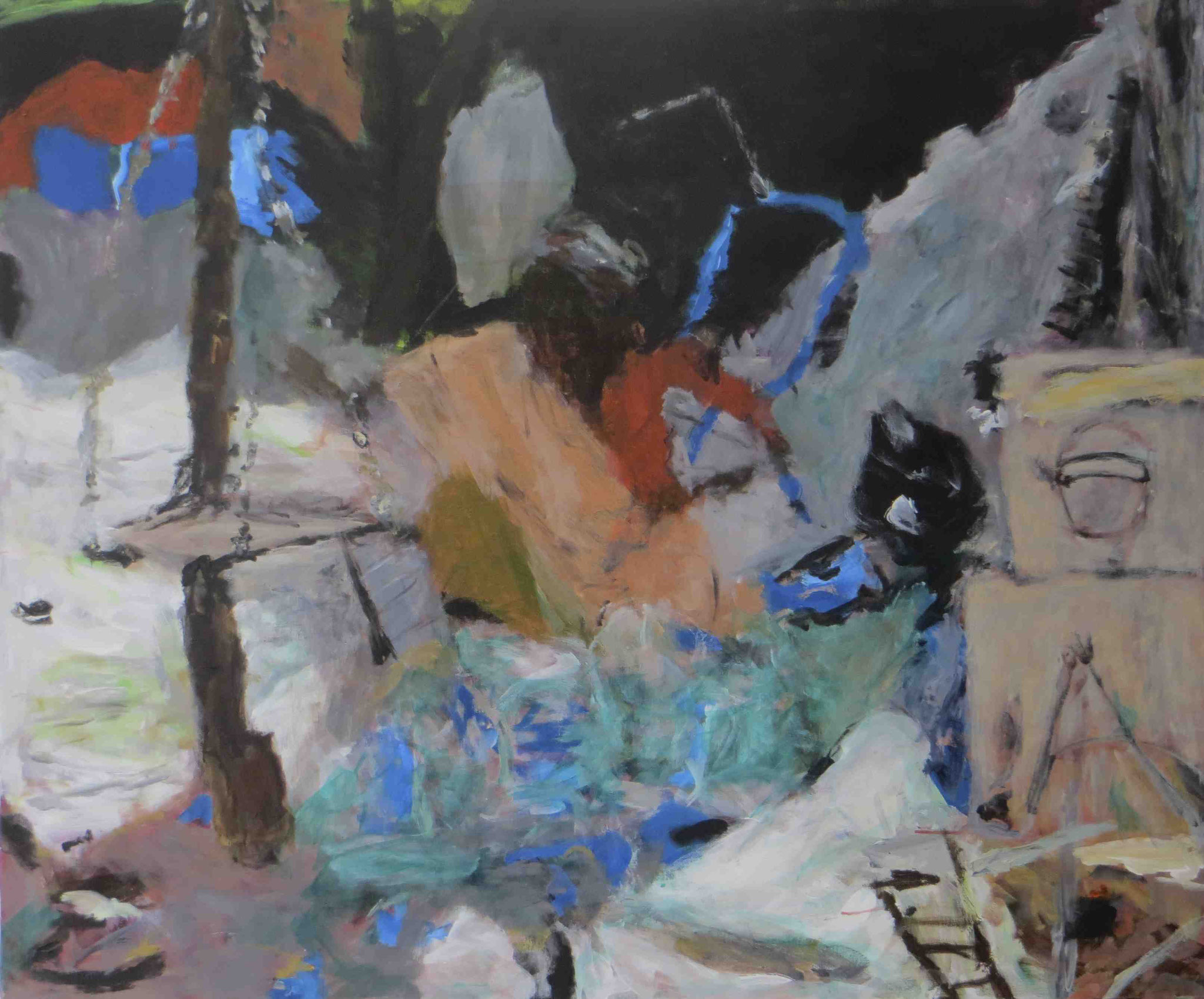 Working Time, Puri, Acryl auf Lwd, 100x120, 2012