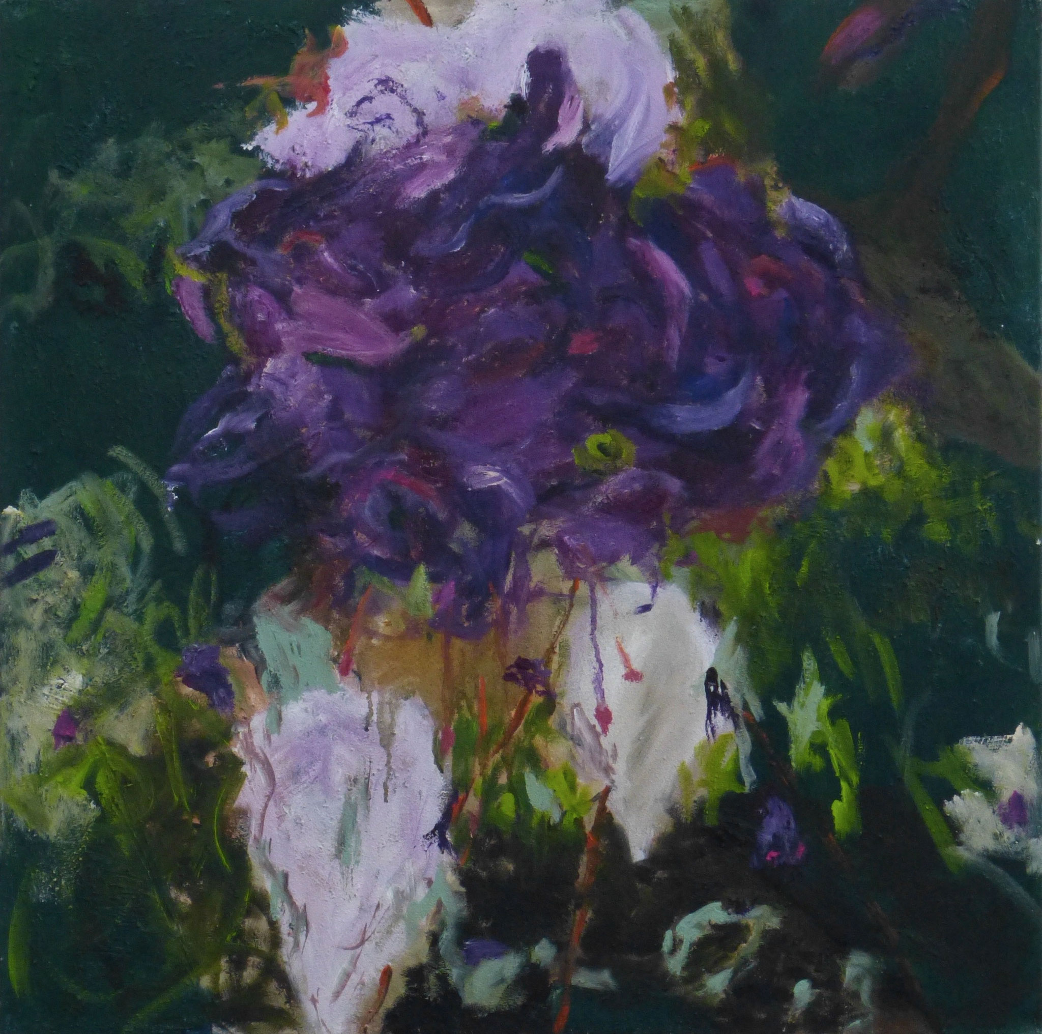 flower poem 8, Acryl/Leinwand, 100x100cm, 2017