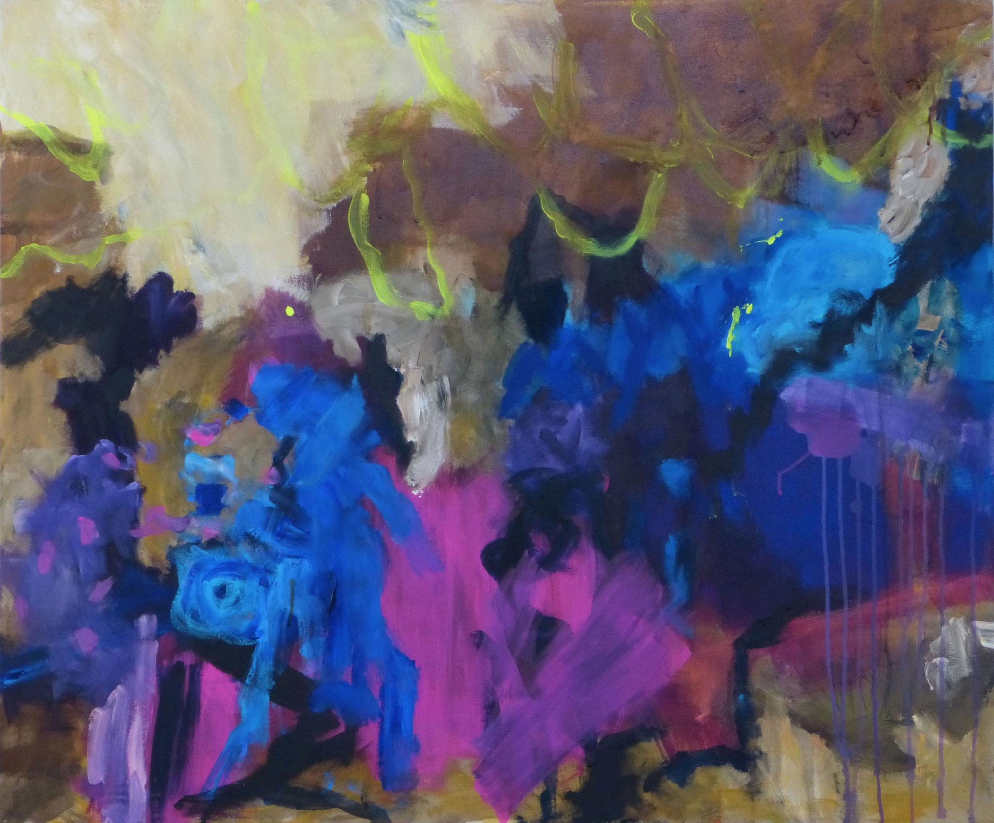 Scherzando 2, Acryl auf Leinwand, 100x130cm, 2018