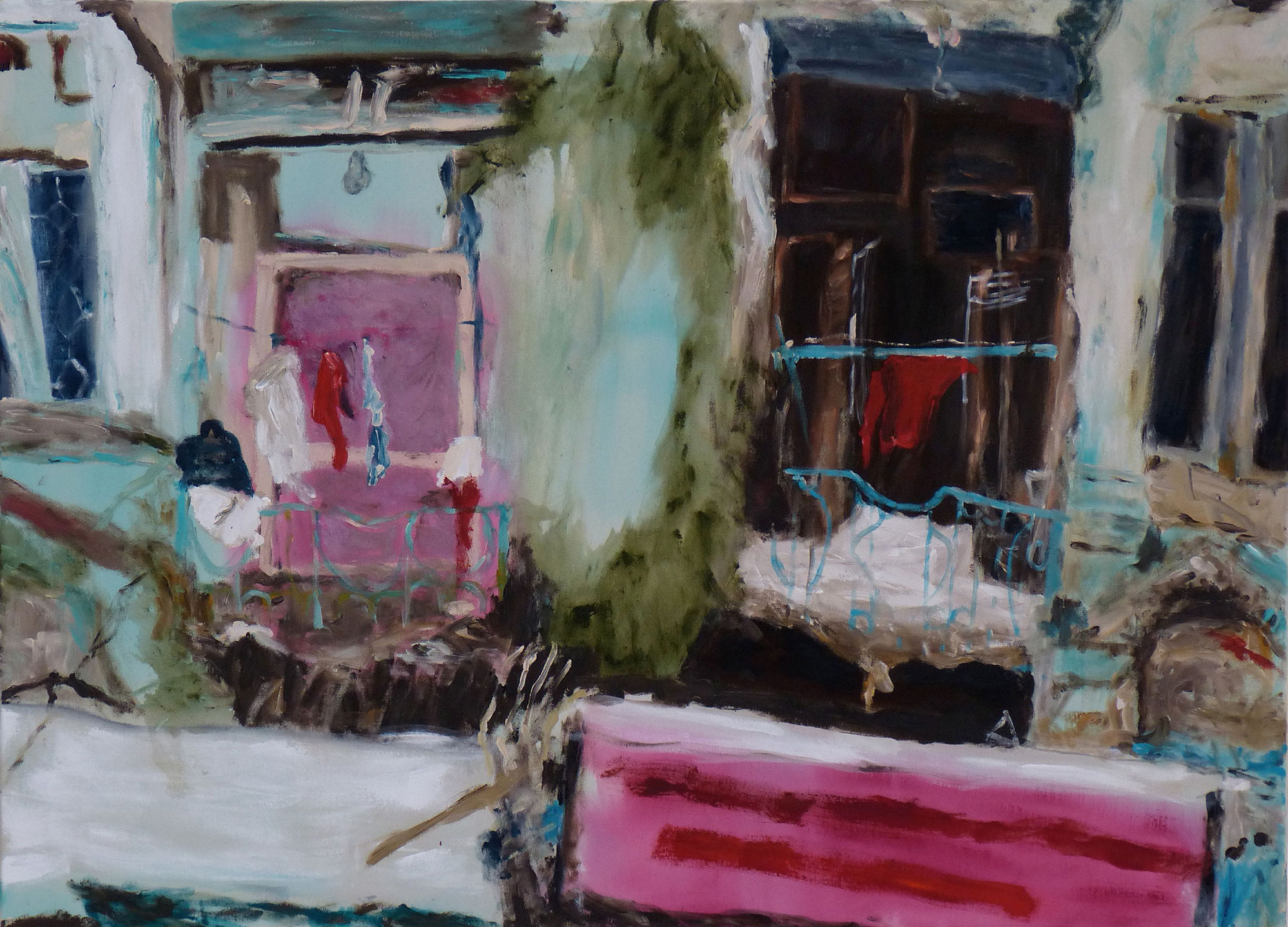Heritage Walk VI, Acryl auf Lwd, 80x110 cm, 2016