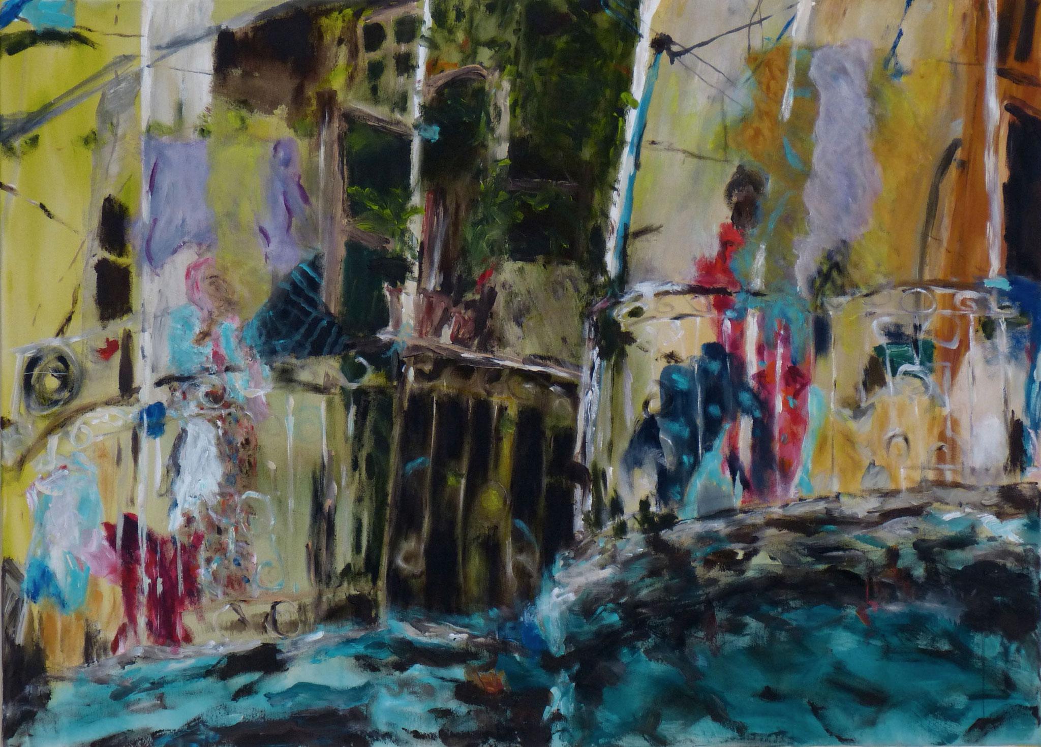 Heritage Walk II, Acryl auf Lwd, 80x110 cm,2016