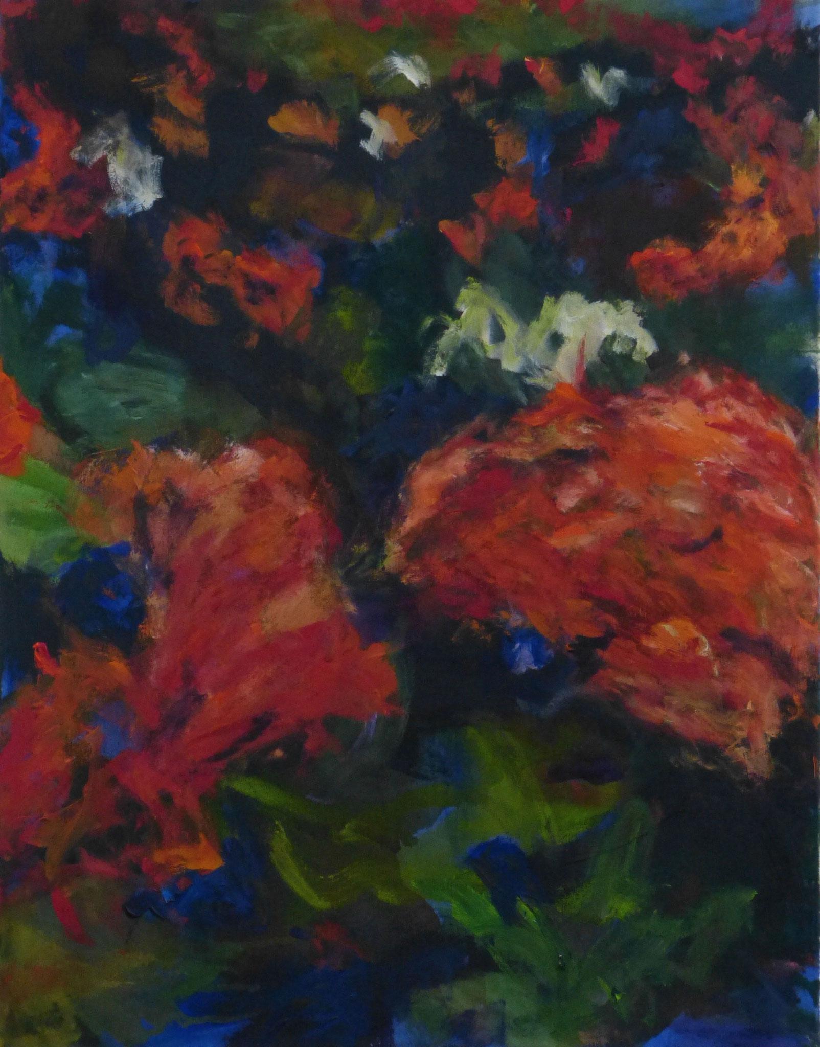 flower poem 11, Acryl/Leinwand, 90x70cm, 2017