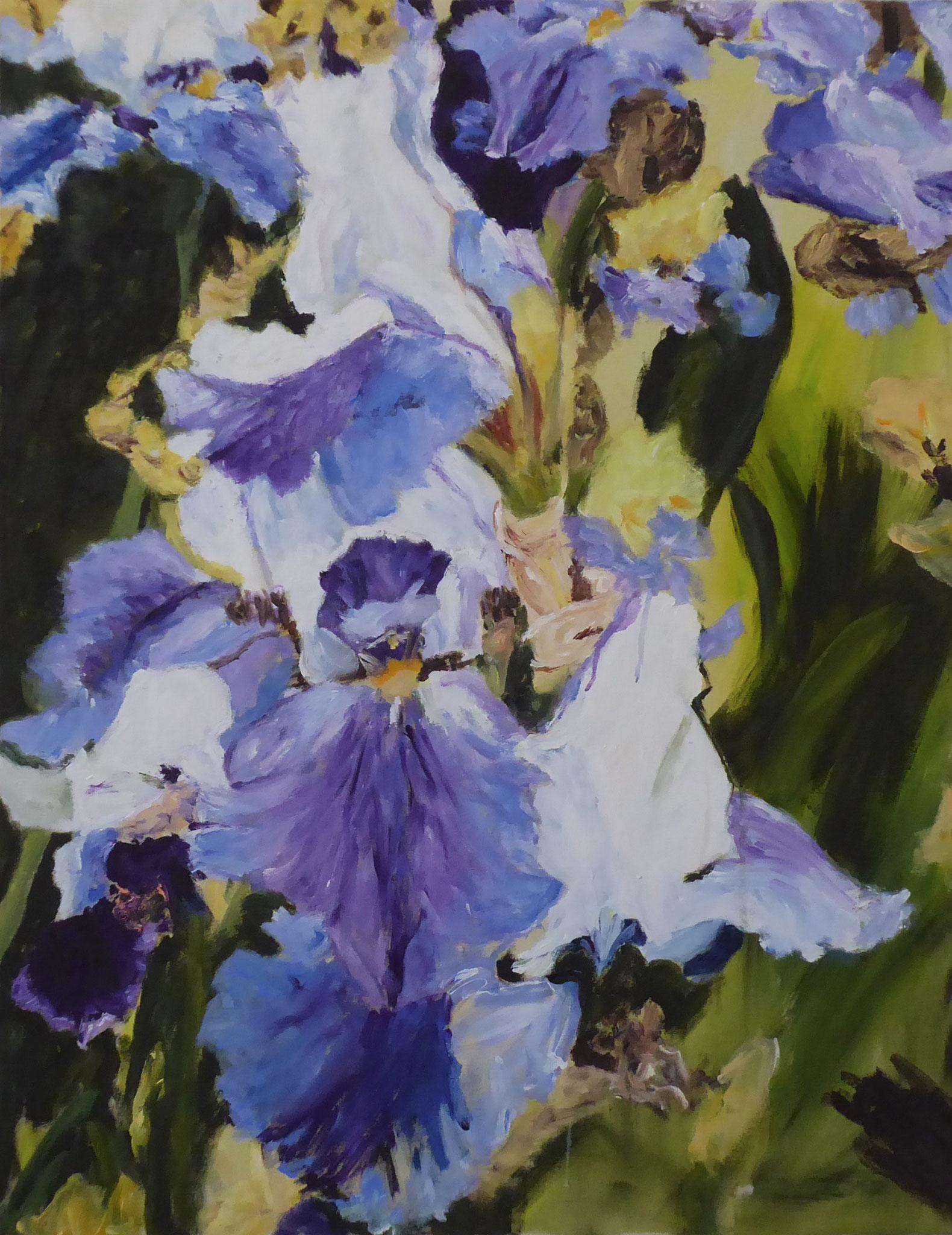 Flower Poem 52, Acryl/Leinwand, 2021