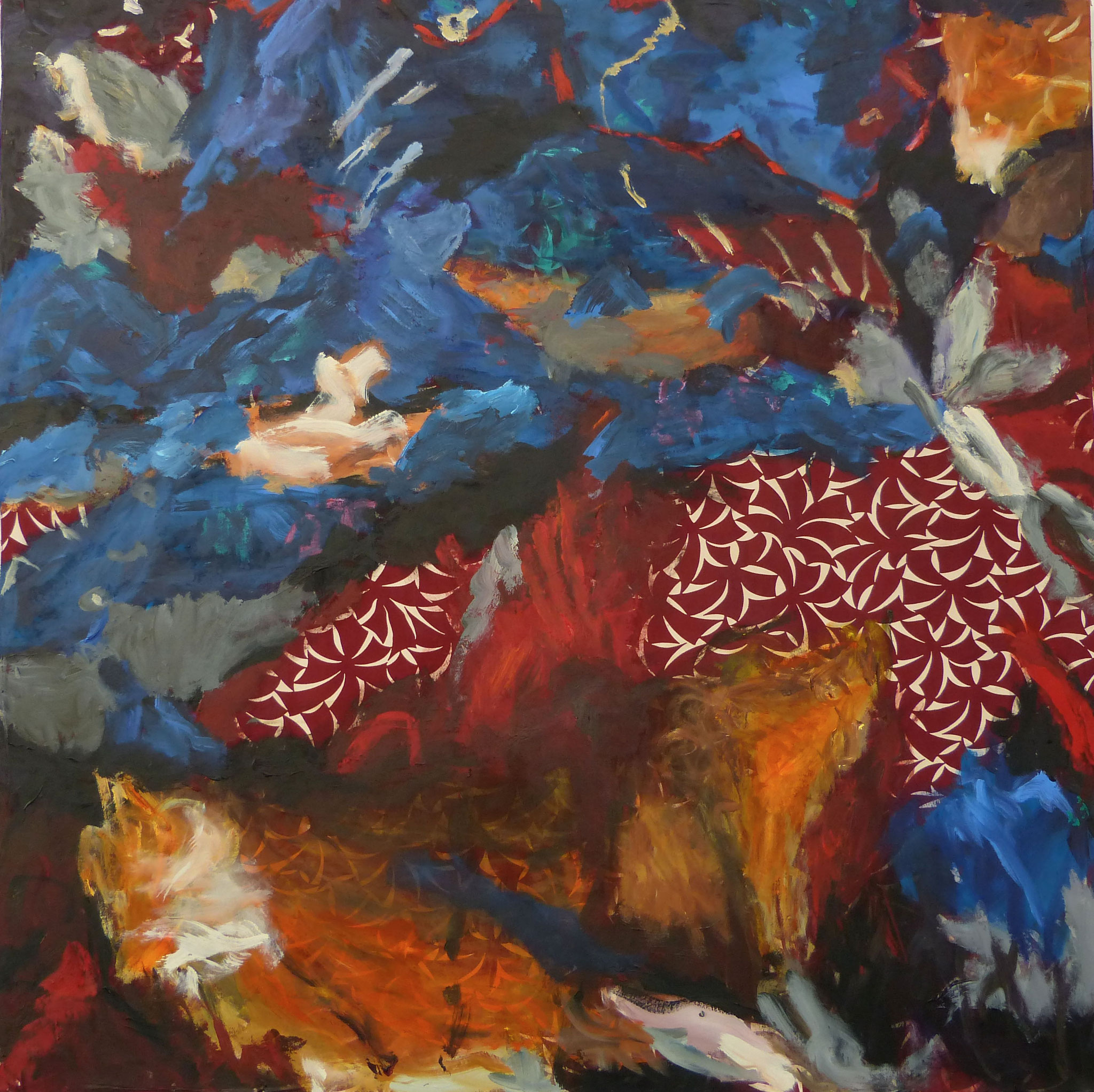 Masala 1, Acryl /Leinwand, 100 x 100 cm, 2016