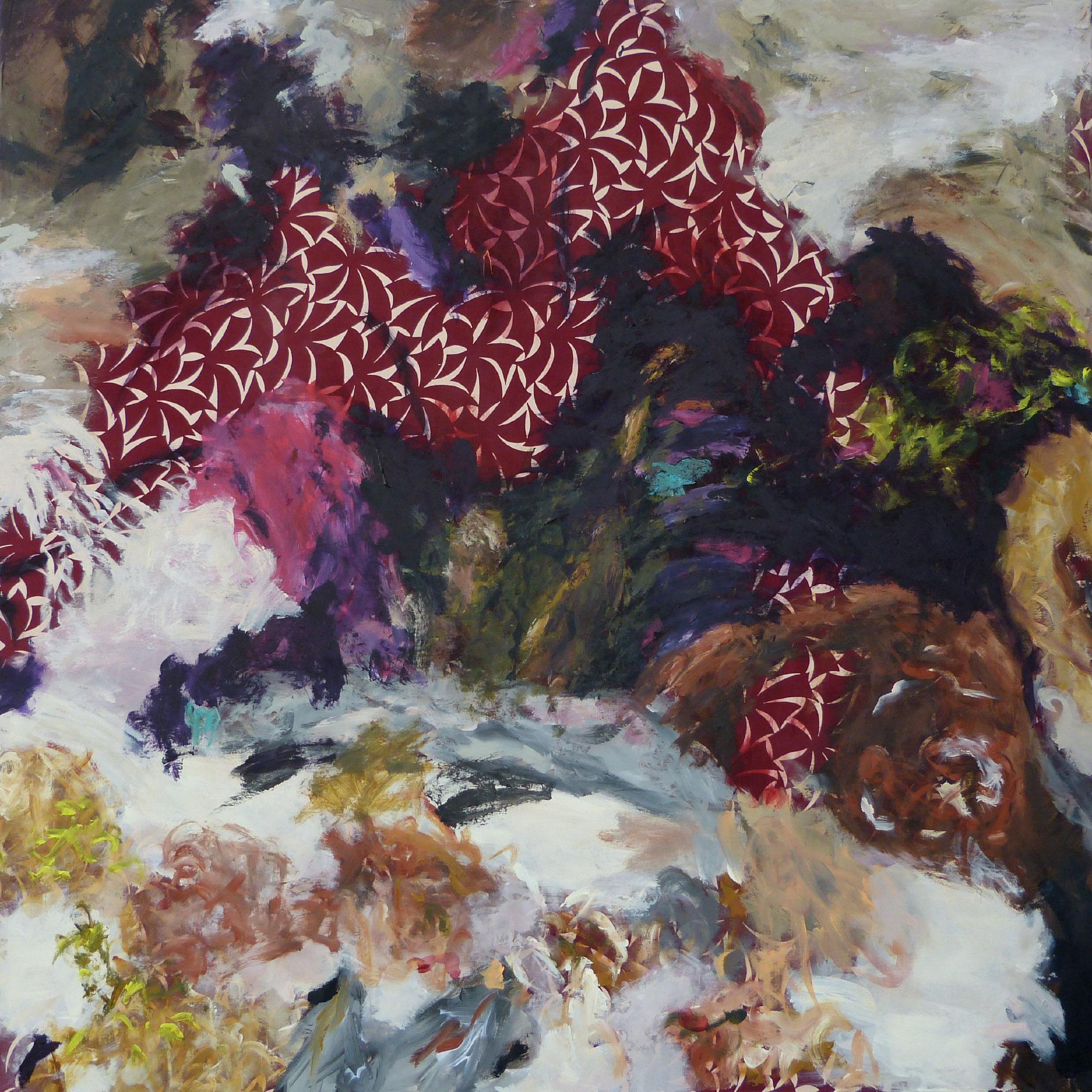 Masala 5, Acryl /Leinwand, 100 x 100 cm, 2016