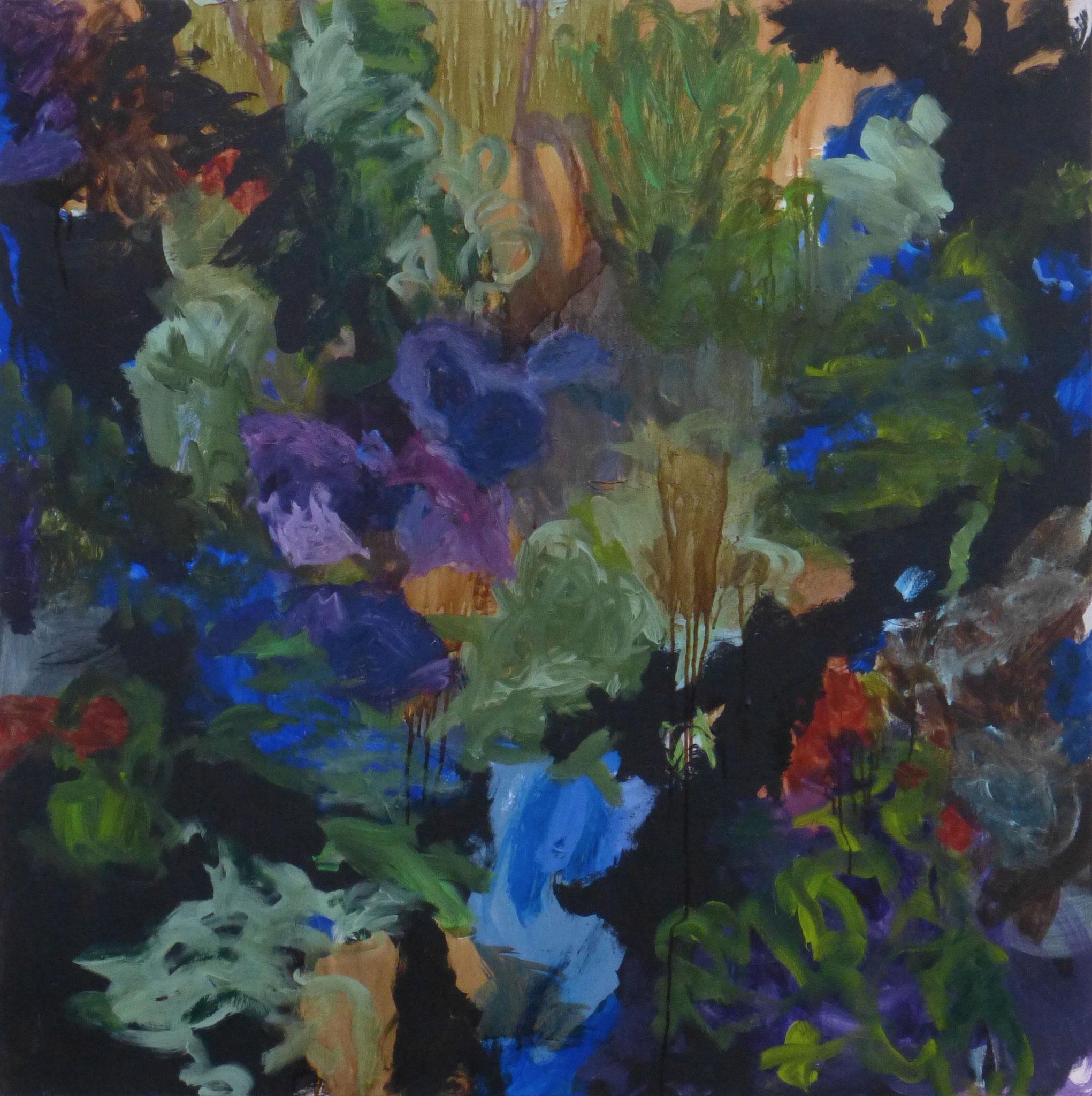 flower poem 4, Acryl/Leinwand, 100x100cm, 2017