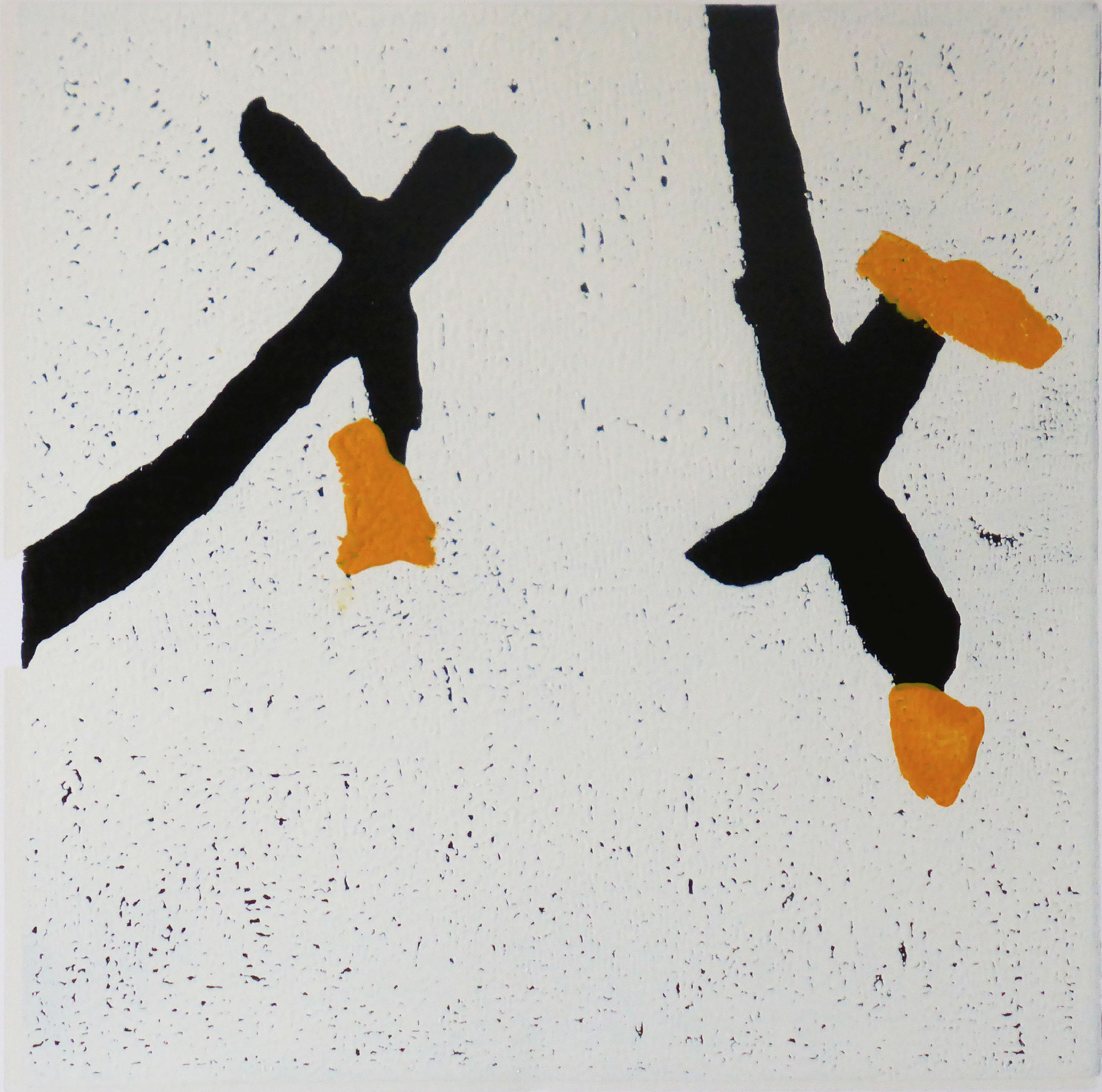 Tangentia 2, Farbholzschnitt, 35x35cm, 2014