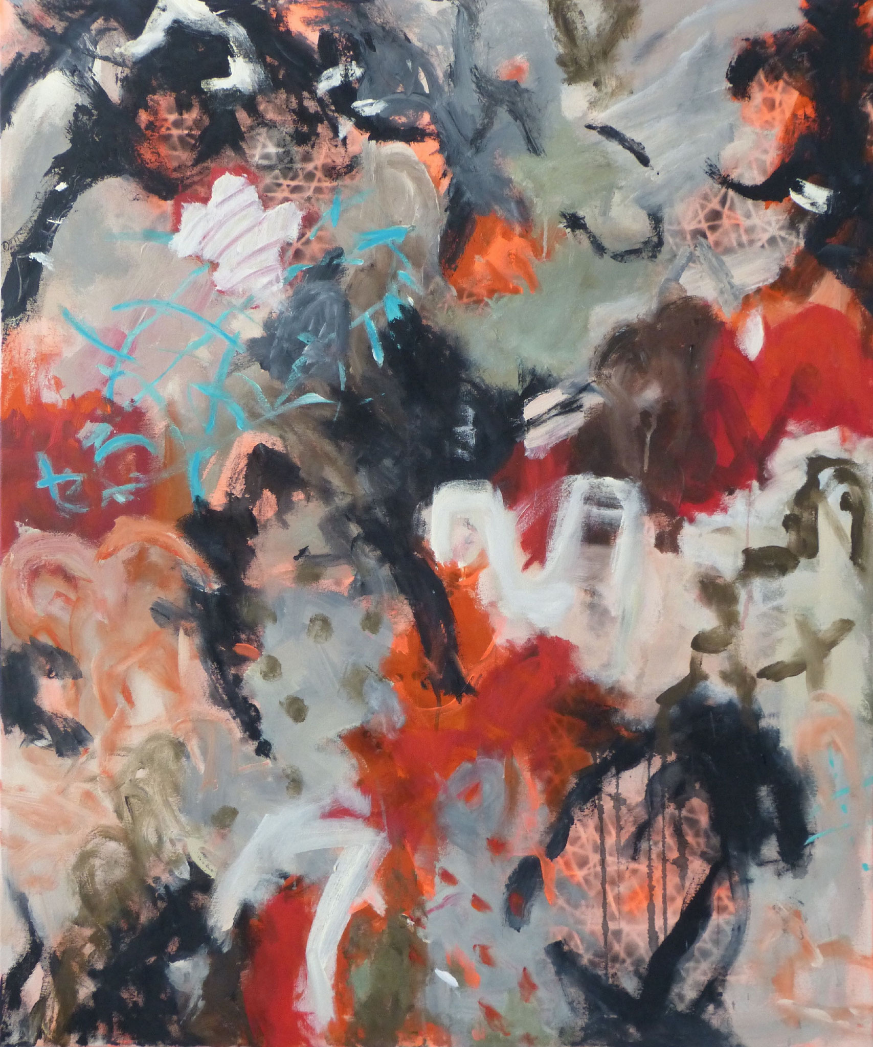 Marrakesch 4,  Acryl/Leinwand, 120x100 cm, 2018