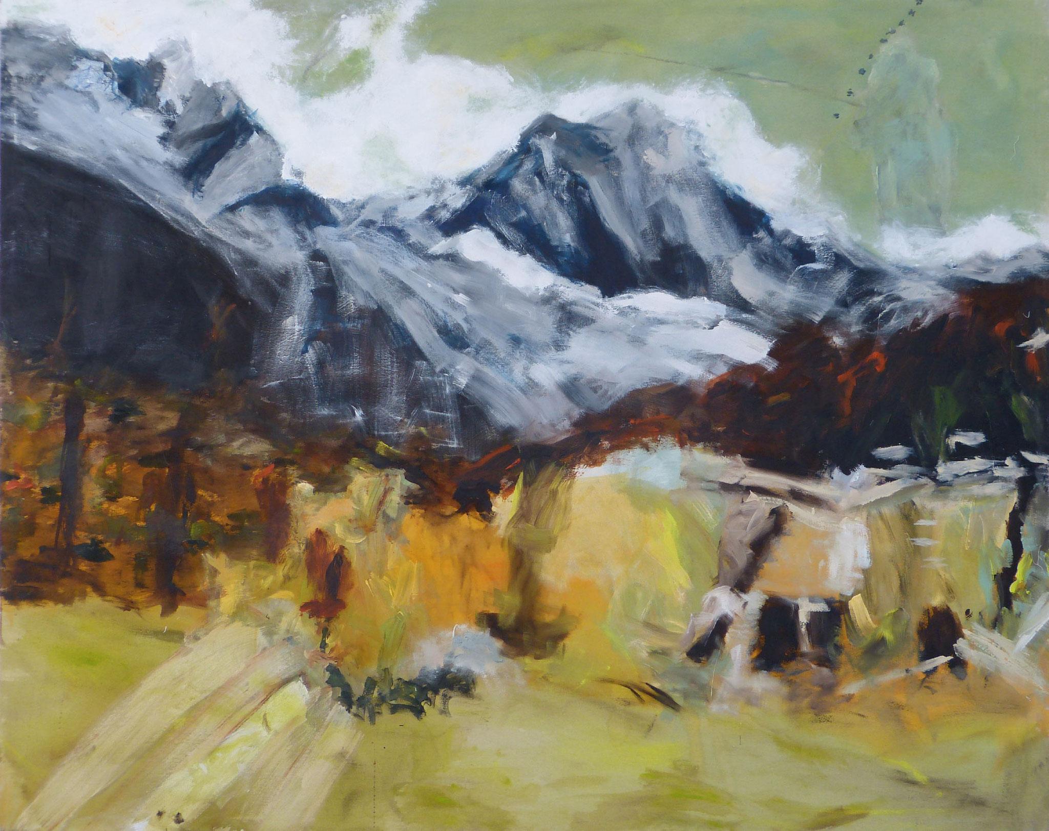 Mountainscape 5,  Acryl/Lwd., 120 x 140 cm, 2015