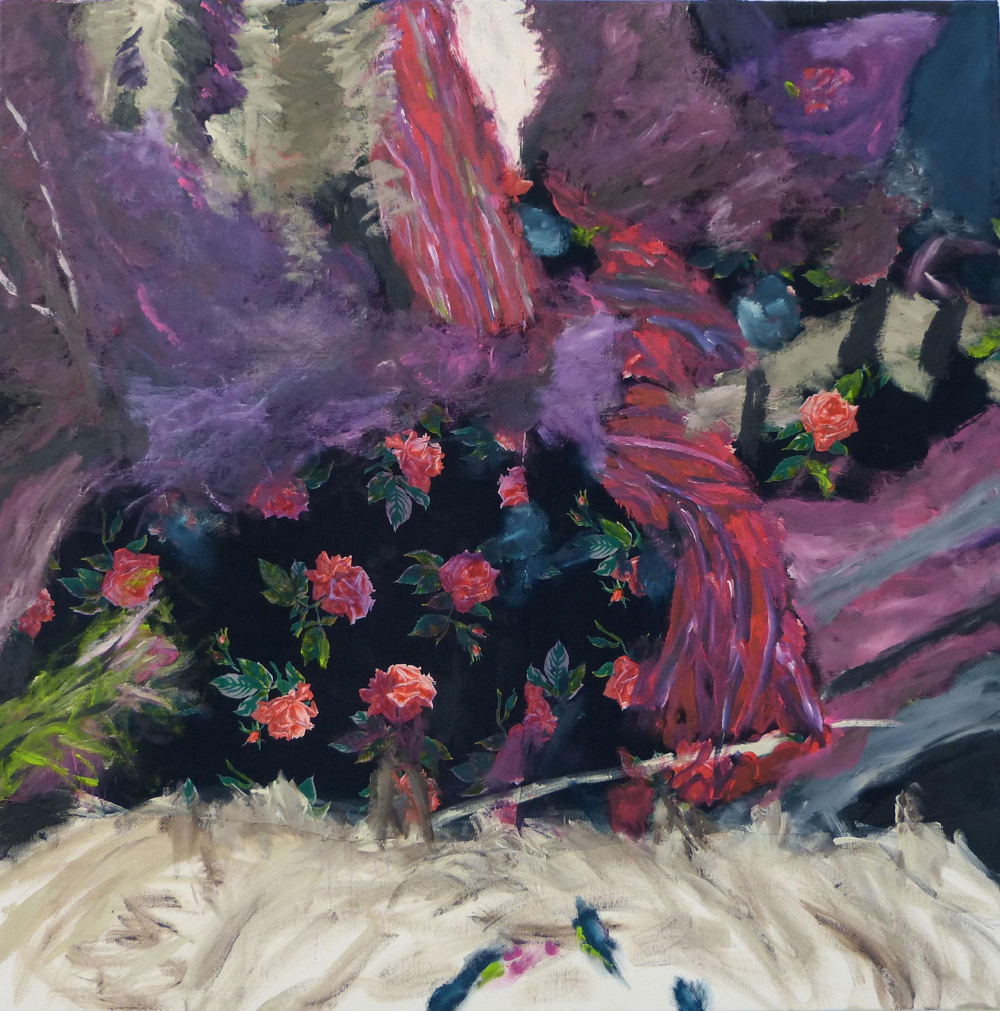 Masala 6, Acryl /Leinwand, 100 x 100 cm, 2016