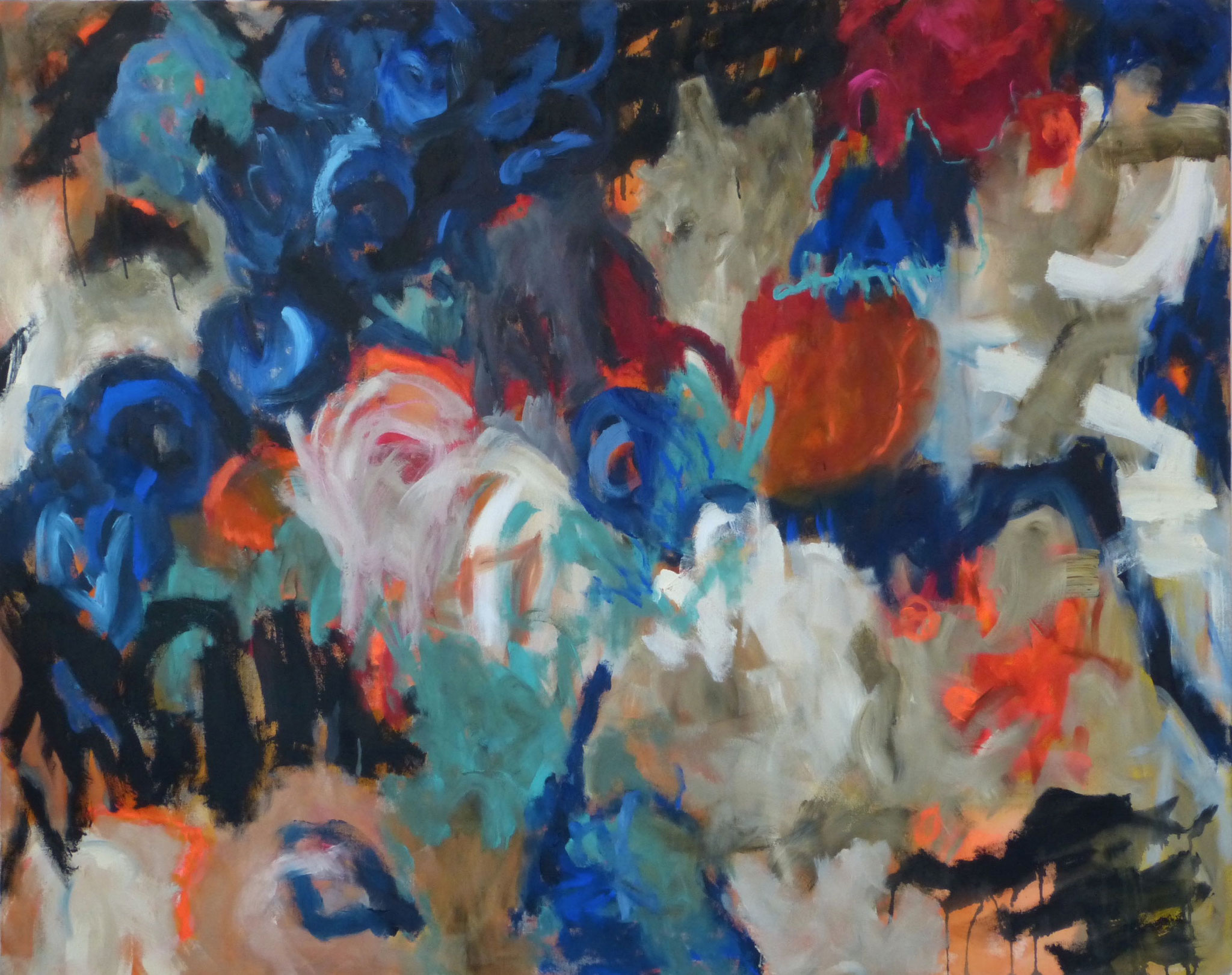 Furioso, Acryl auf Leinwand, 120x150cm, 2018