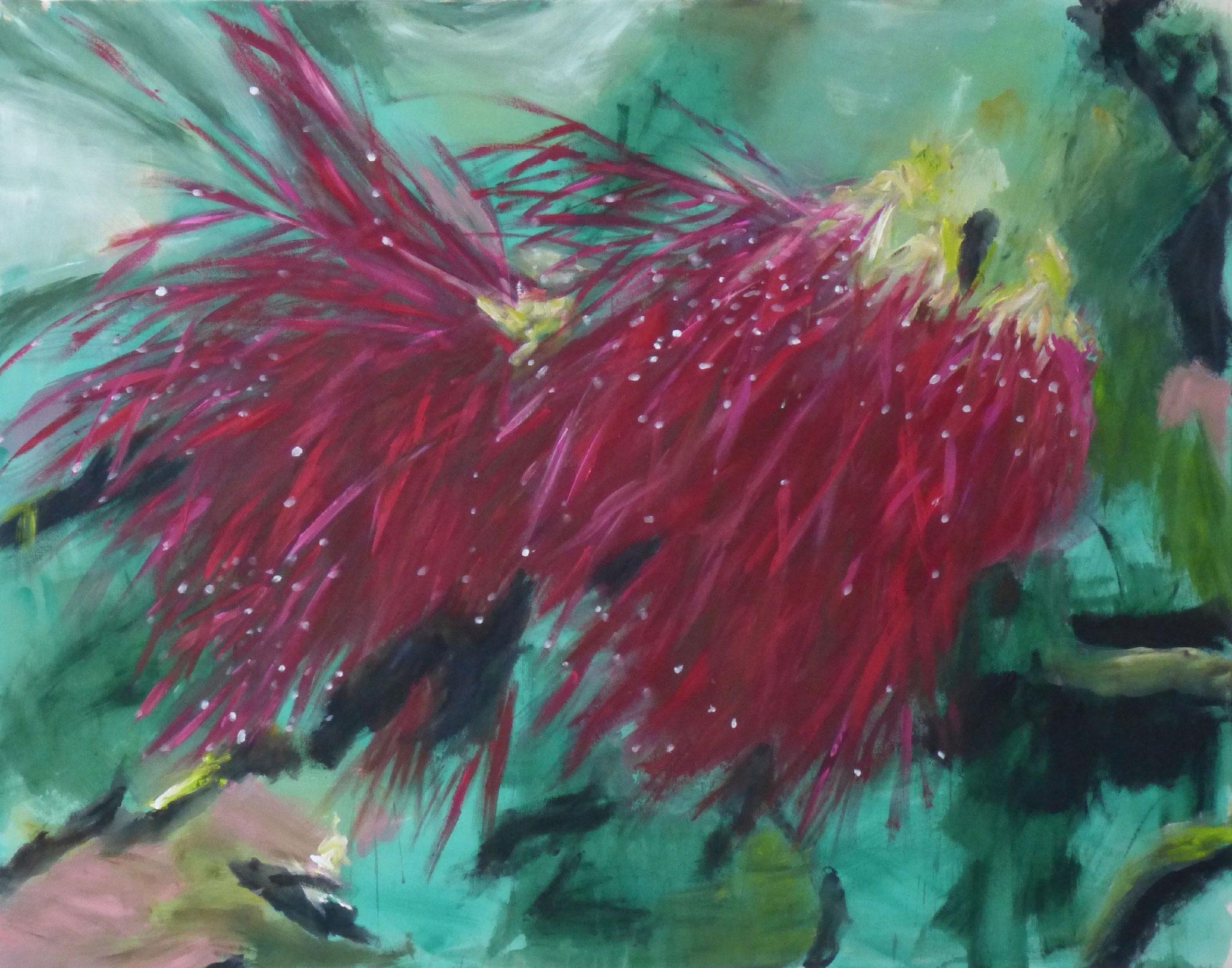 flower poem 1, Acryl/Leinwand, 110x140cm, 2017