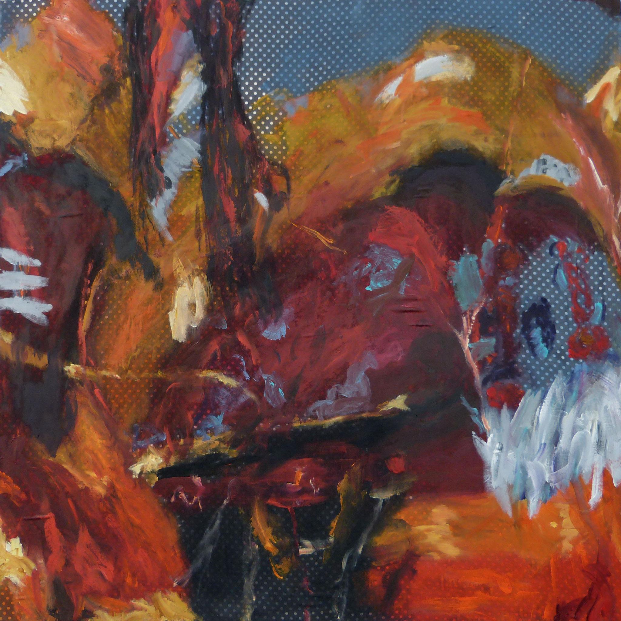 Masala 7, Acryl /Leinwand, 100 x 100 cm, 2016