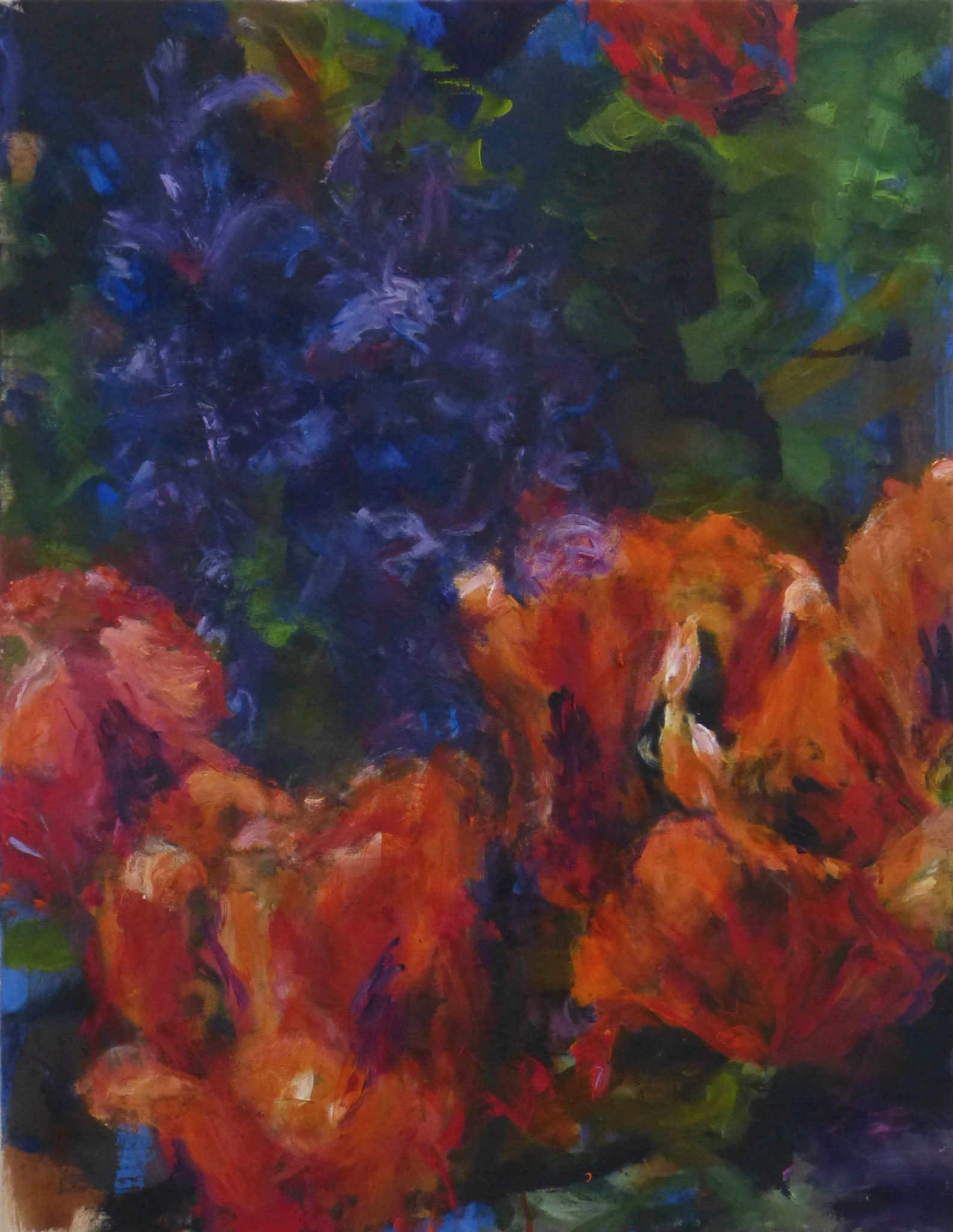 flower poem 12, Acryl/Leinwand, 90x70cm, 2017
