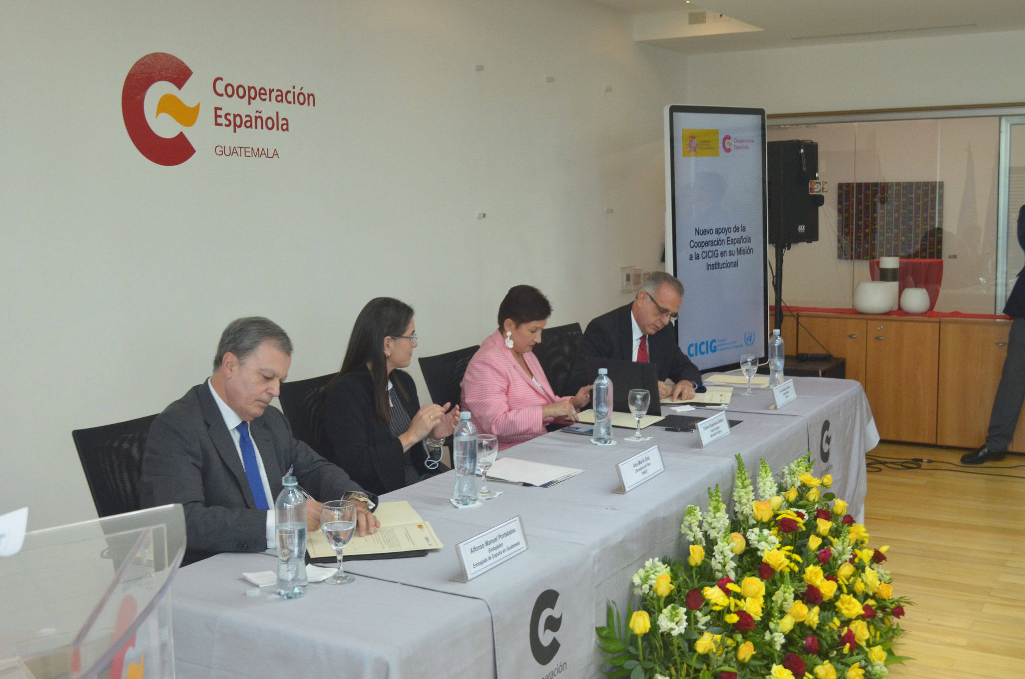 España ratifica su apoyo a la misión institucional de la CICIG en Guatemala