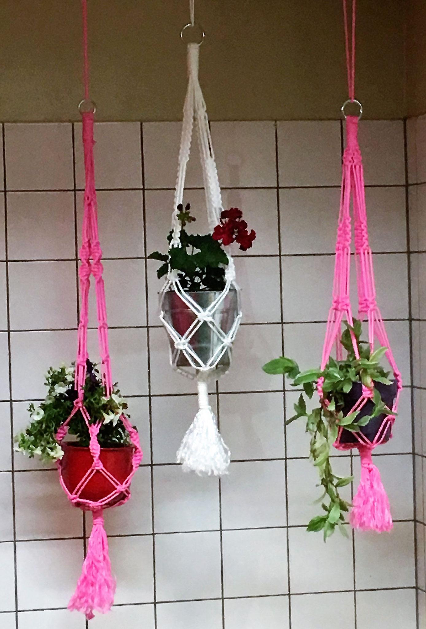 Makramee Plant Hanger Polyestergarn