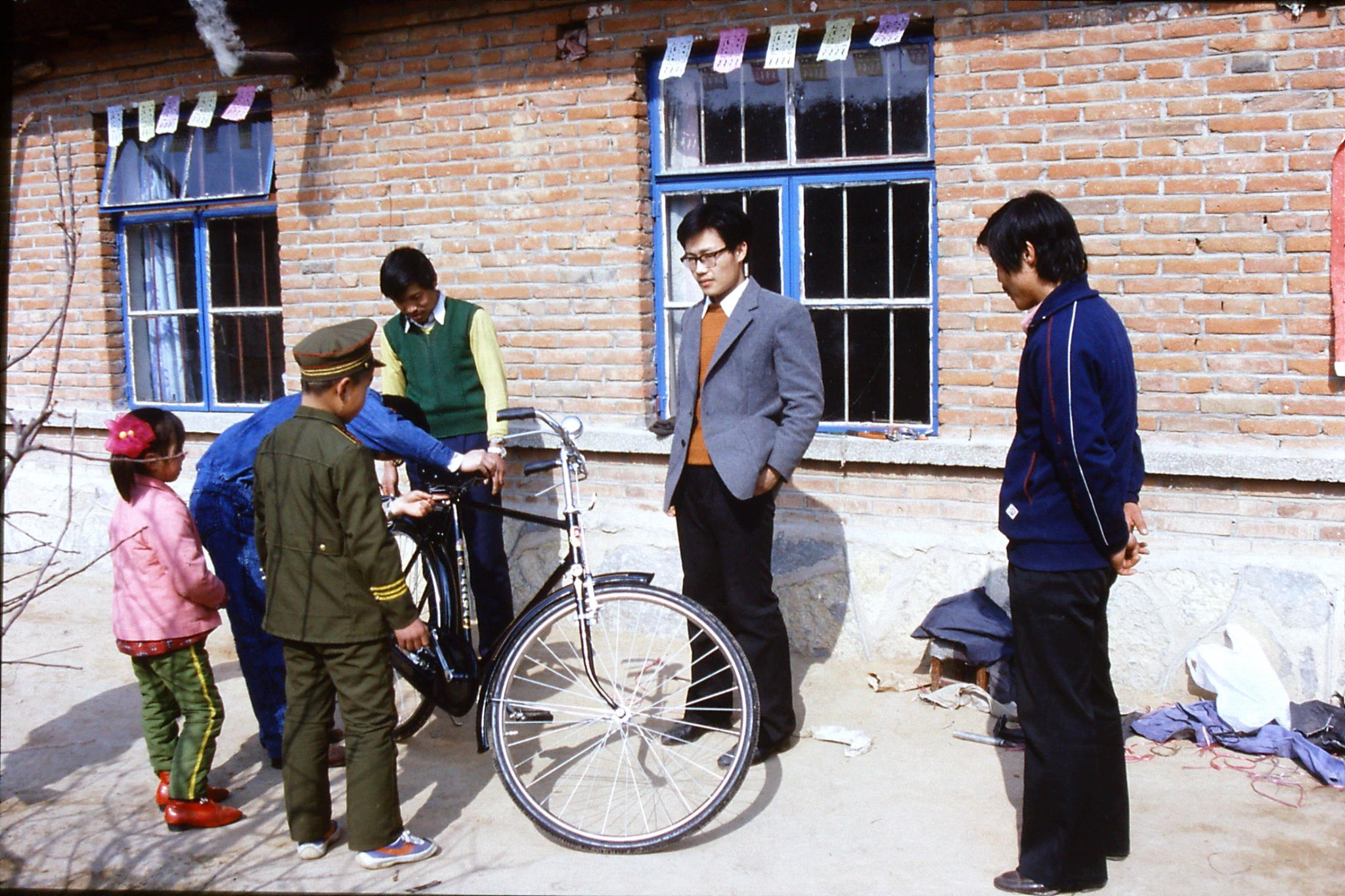 15/2/1989: 10: Liu Bo's village, assembled bicycle