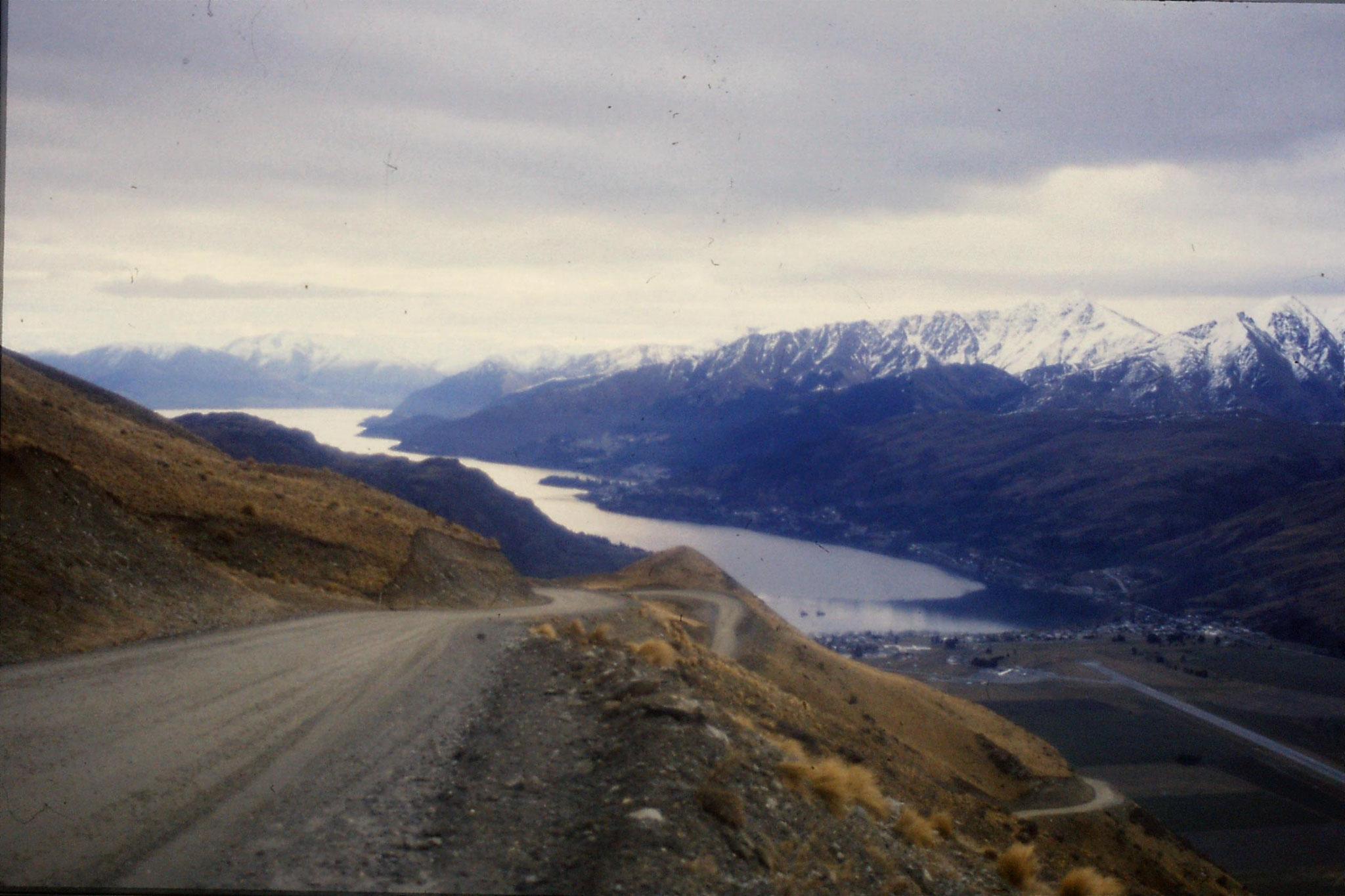 12/8/1990: 28: view of Lake Wakatipu and Queenstown