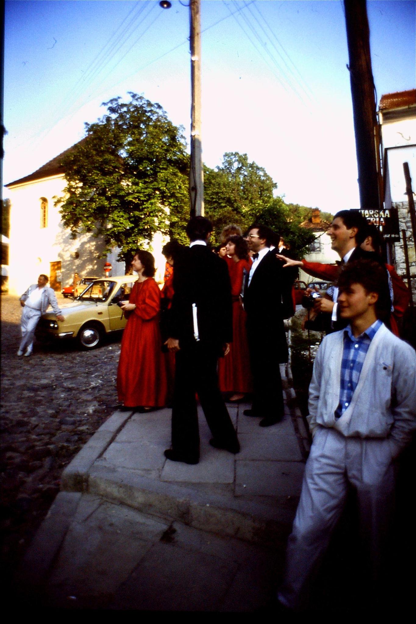 27/8/1988: 9: London Chorale at Kazimierz Dolny