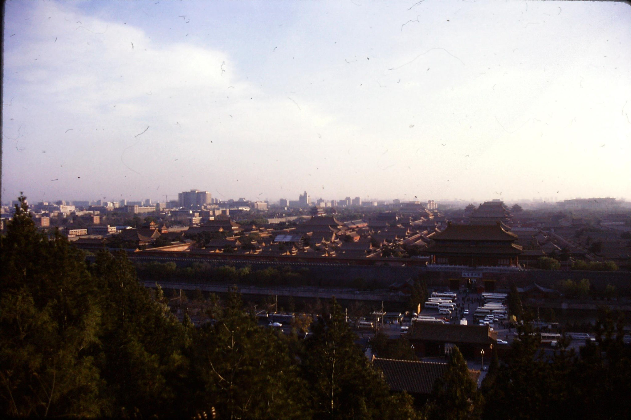 18/11/1988: 31: view of Forbidden City from Coal Hill