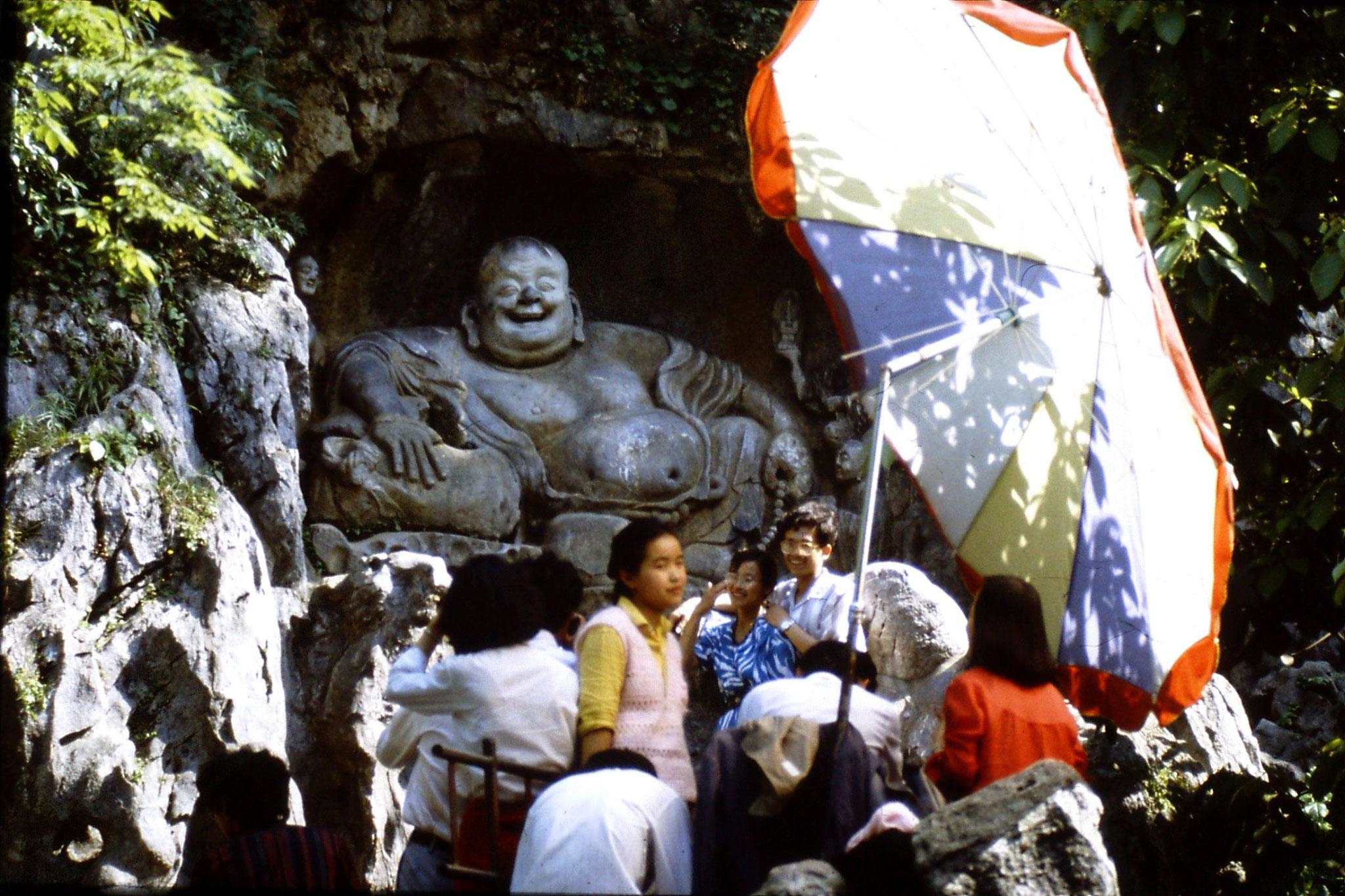 2/6/1989: 33: Hangzhou Ling Yin Si Laughing Buddha