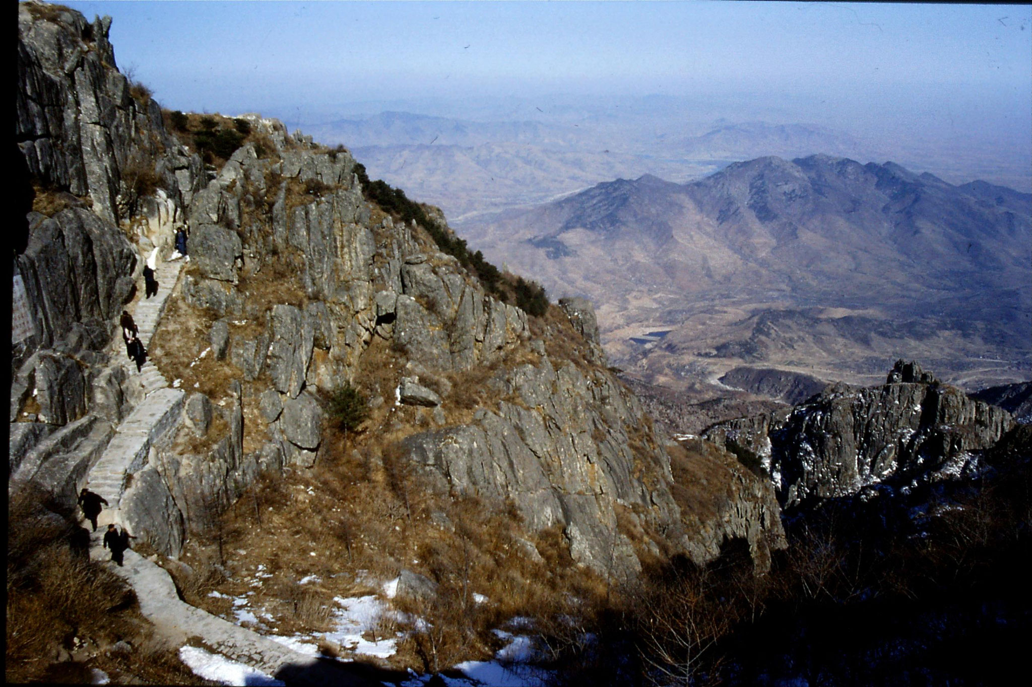 18/2/1989: 24: Taishan view down from Azure Cloud temple